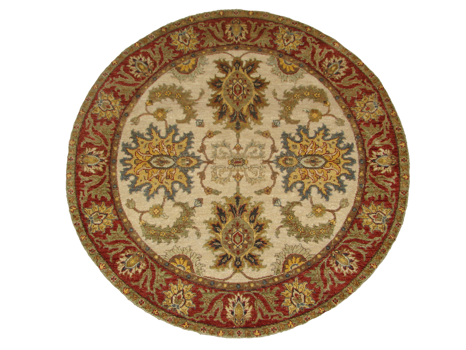 4 Round & Square Traditional Hand Knotted Wool Area Rug - MR18678