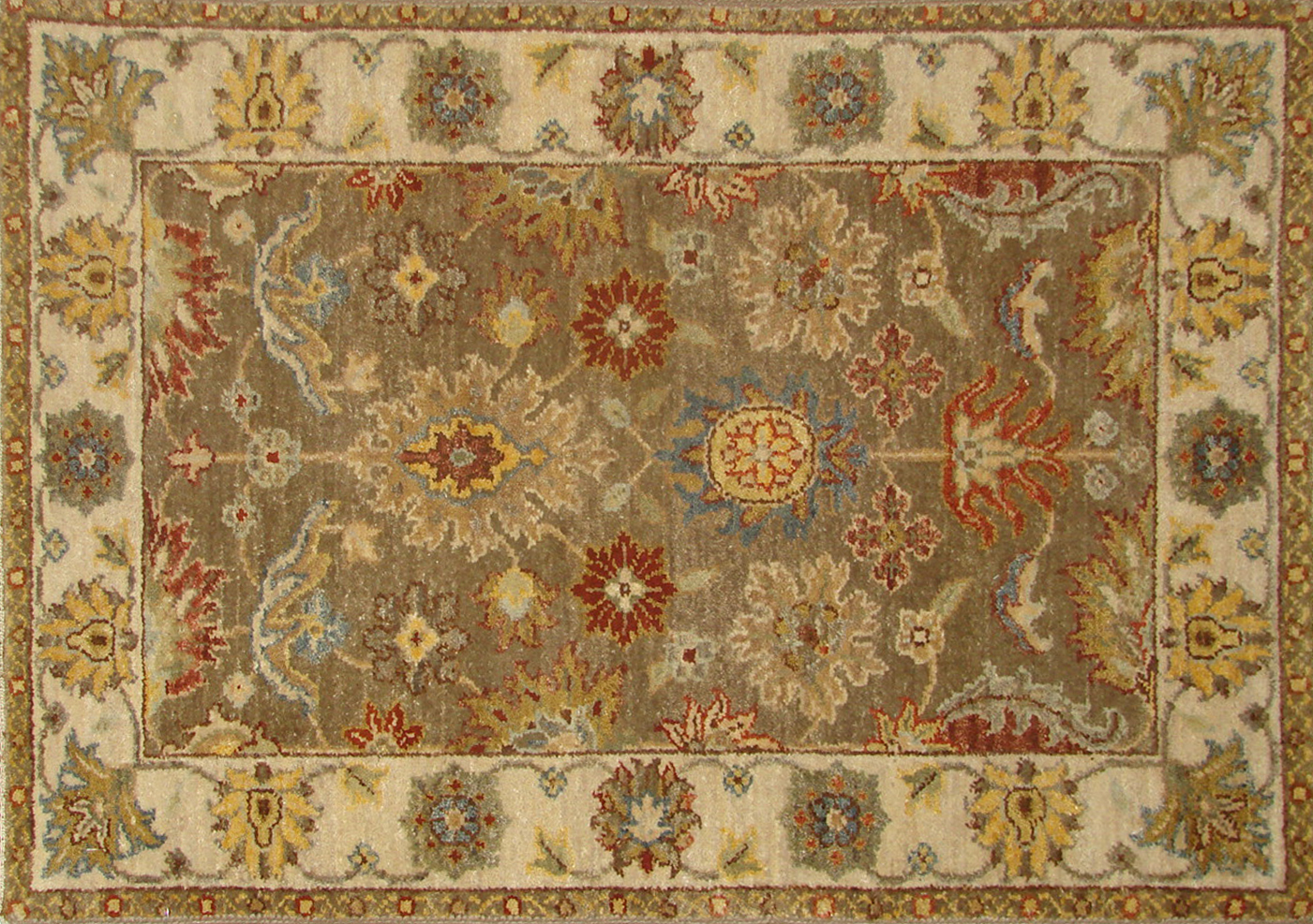 2X3 Traditional Hand Knotted Wool Area Rug - MR18690