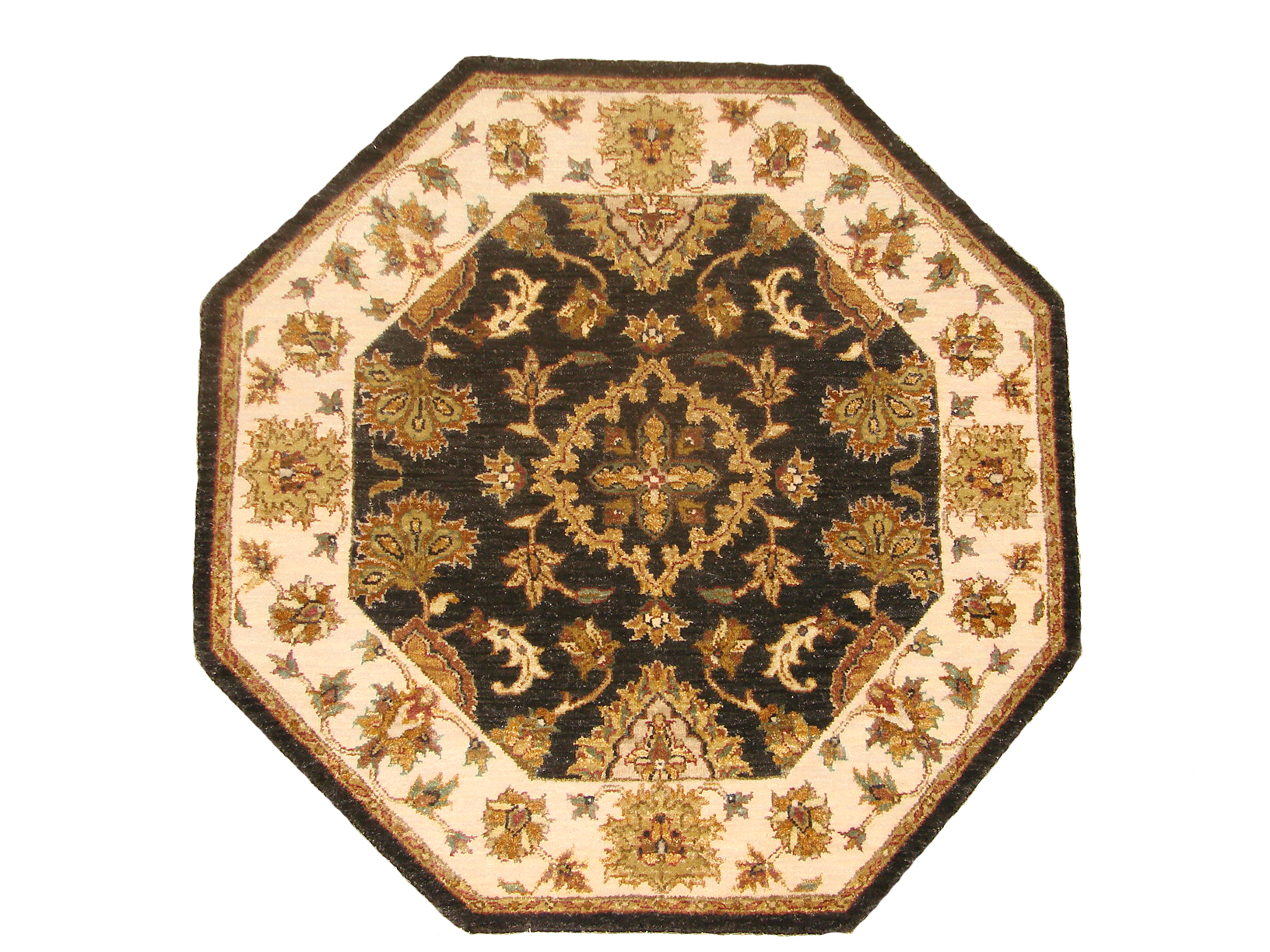 3 ft. Round & Square Traditional Hand Knotted Wool Area Rug - MR18725