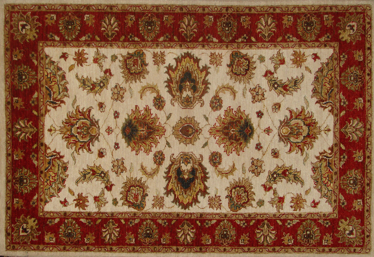 3x5 Traditional Hand Knotted Wool Area Rug - MR18744