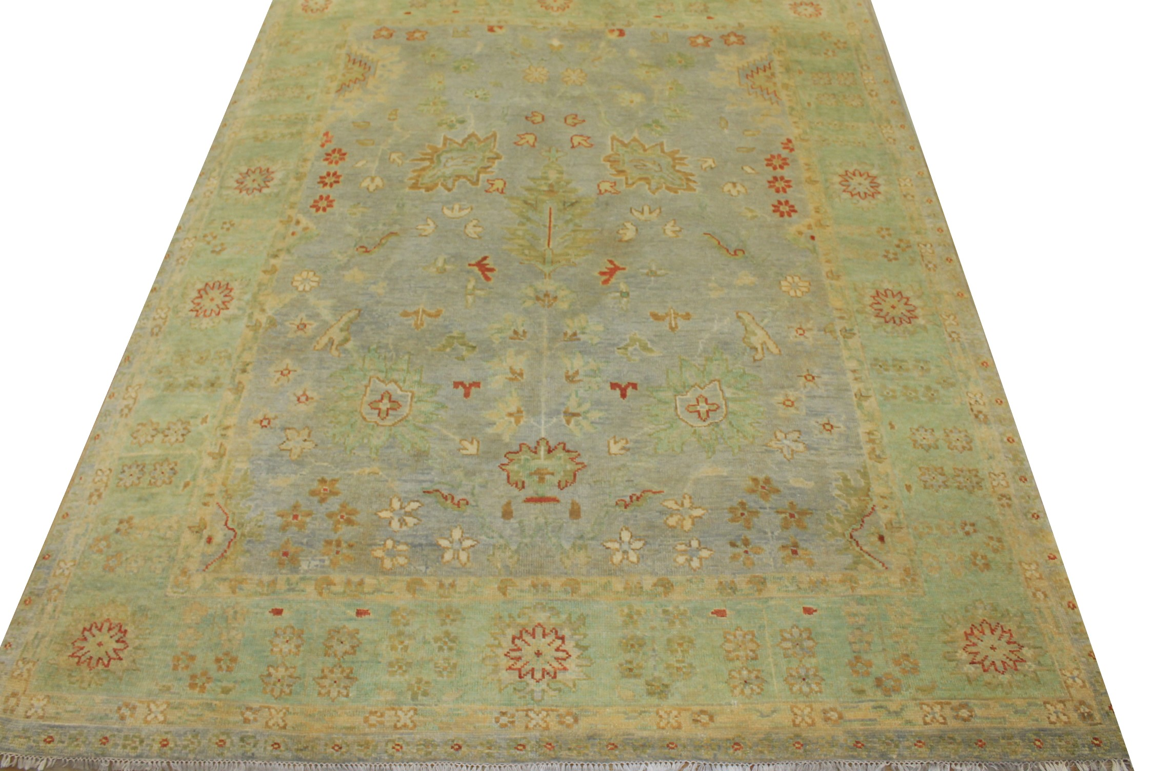 8x10 Oushak Hand Knotted Wool Area Rug - MR18861