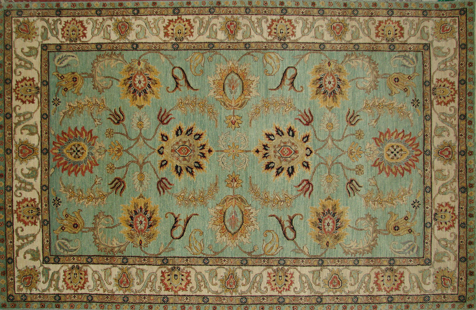 5x7/8 Traditional Hand Knotted Wool Area Rug - MR18968