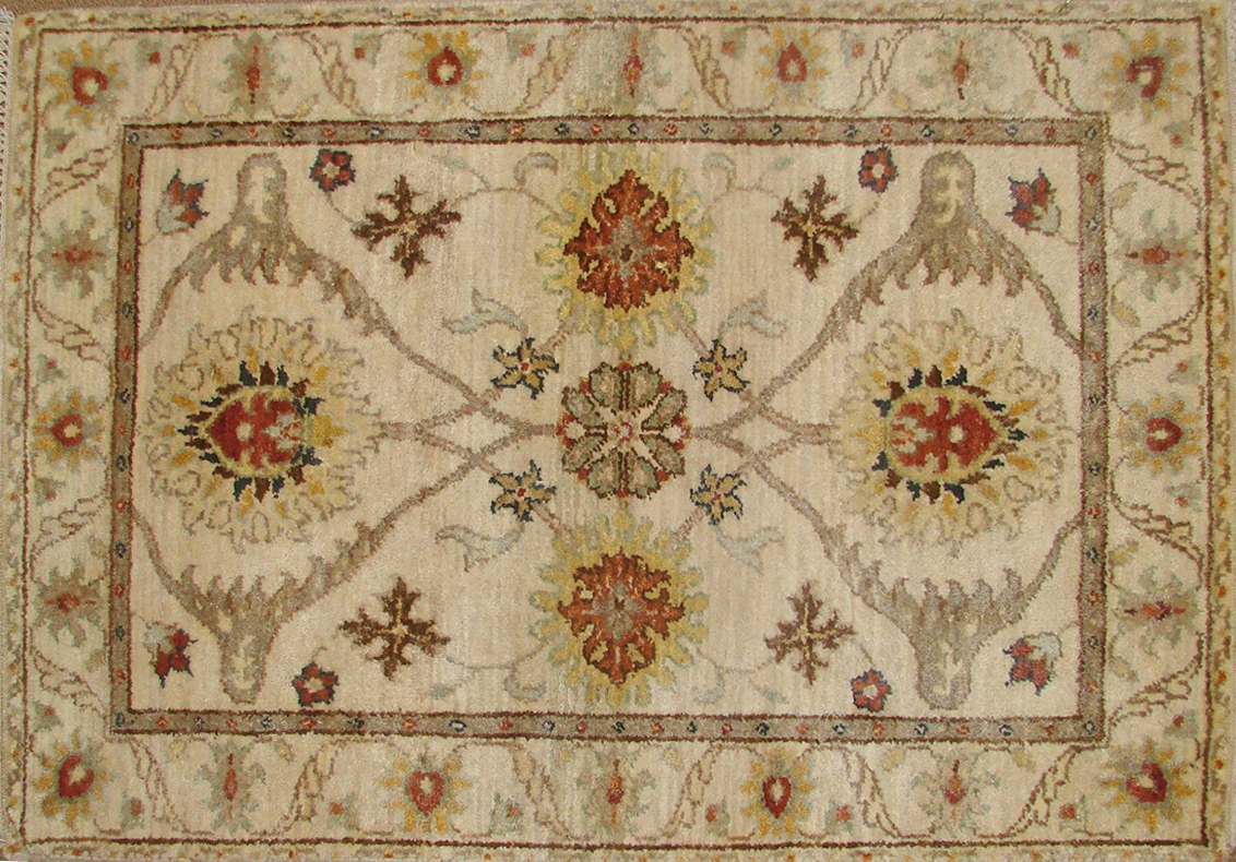 2X3 Traditional Hand Knotted Wool Area Rug - MR19018