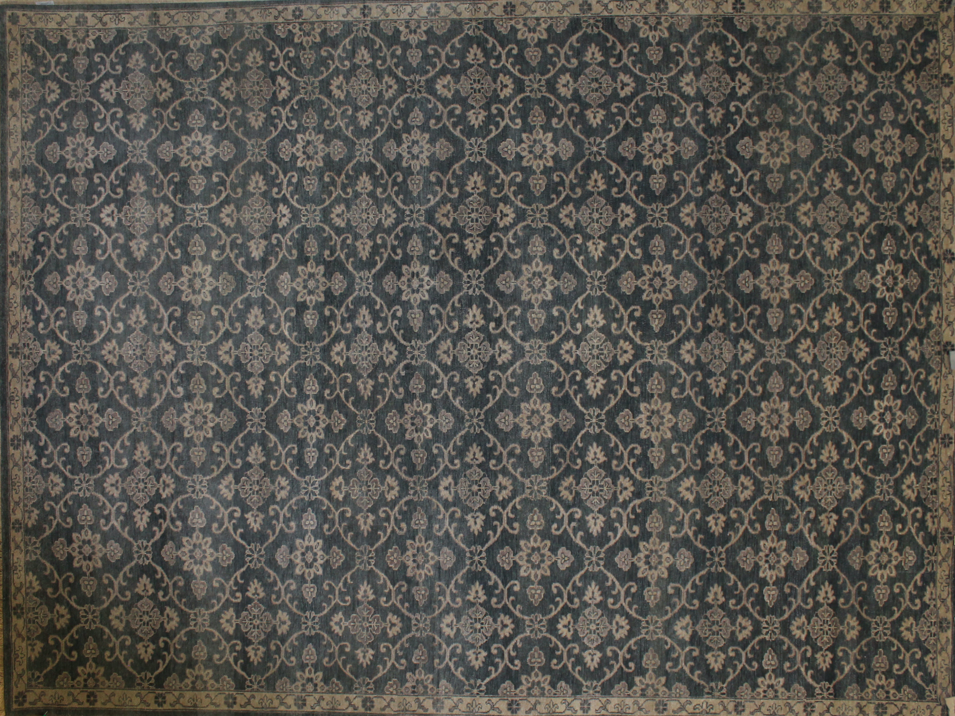 9x12 Contemporary Hand Knotted Wool Area Rug - MR19100