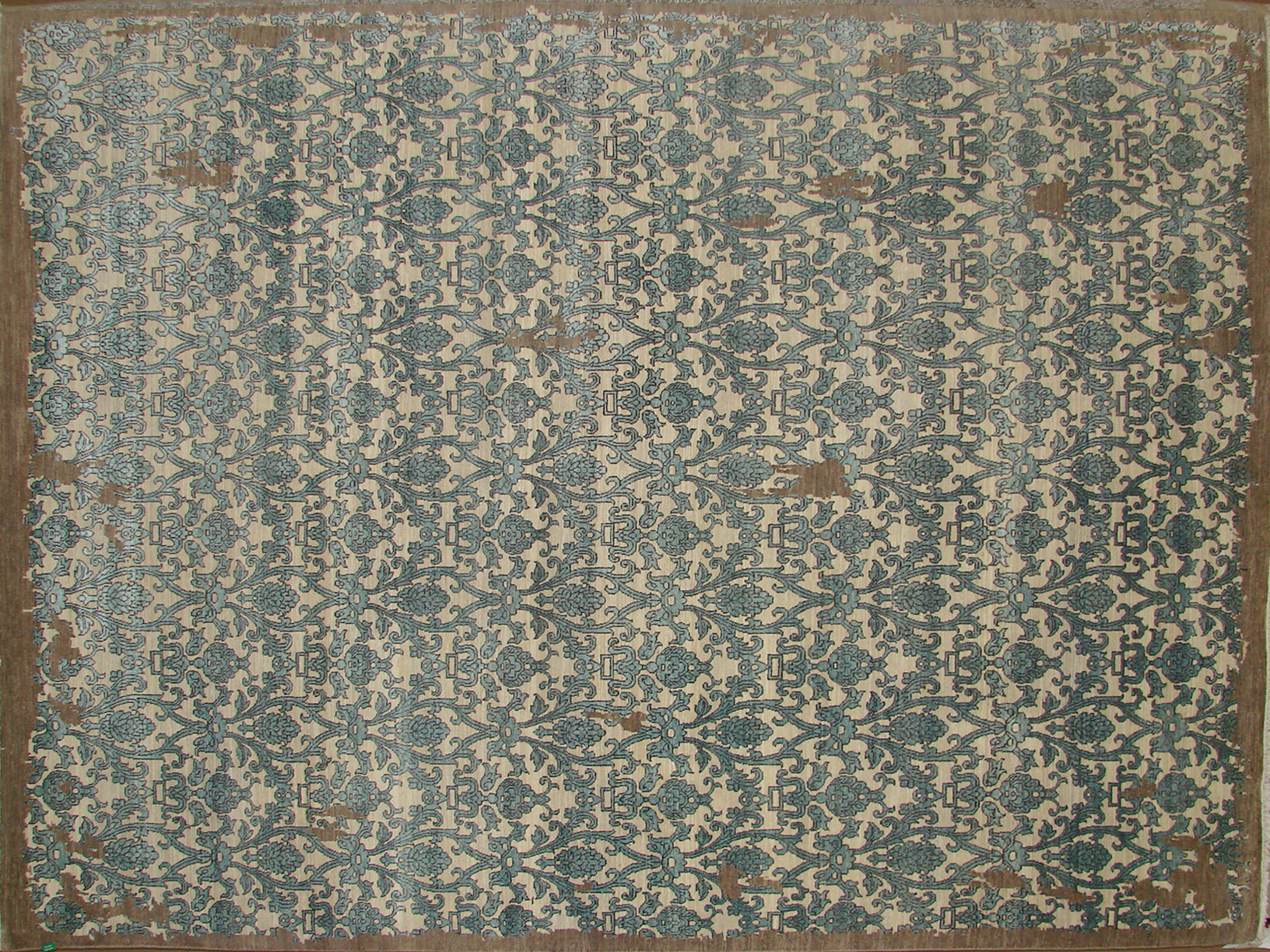 9x12 Contemporary Hand Knotted Wool Area Rug - MR19135