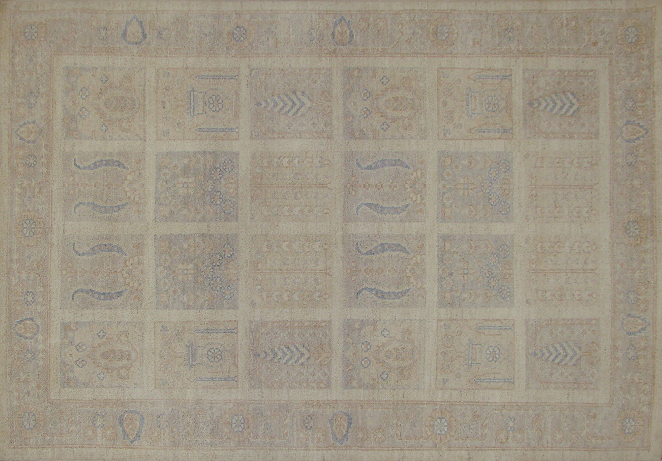 4x6 Peshawar Hand Knotted Wool Area Rug - MR19236
