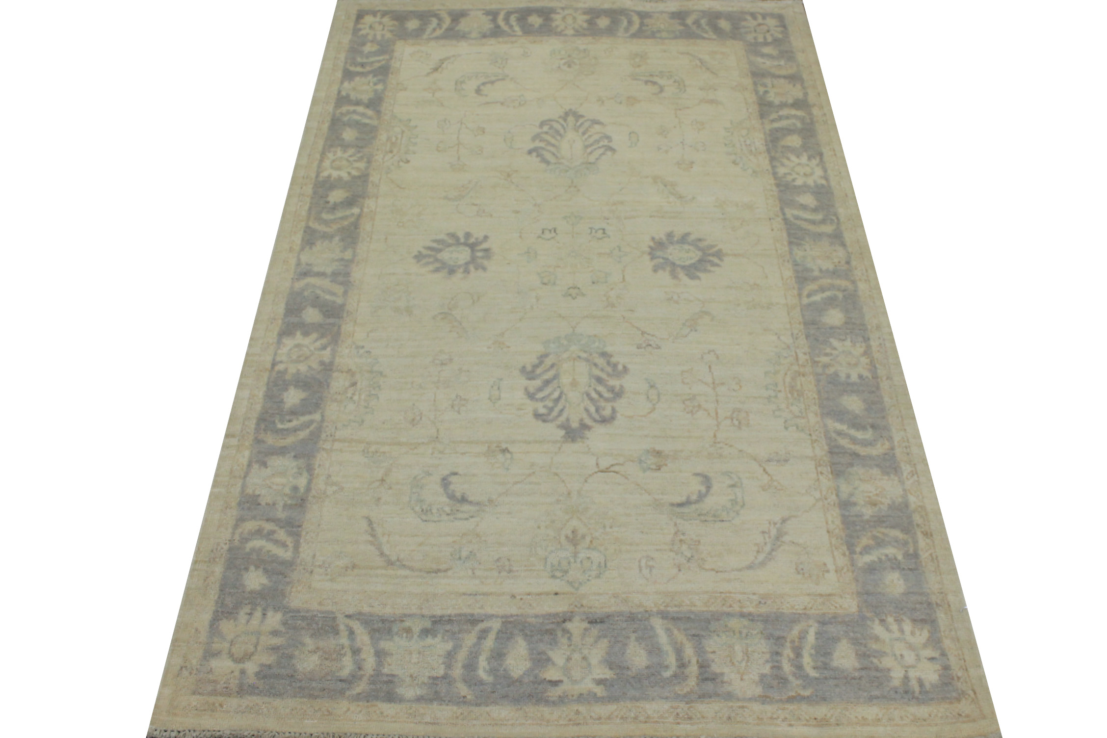 4x6 Peshawar Hand Knotted Wool Area Rug - MR19246