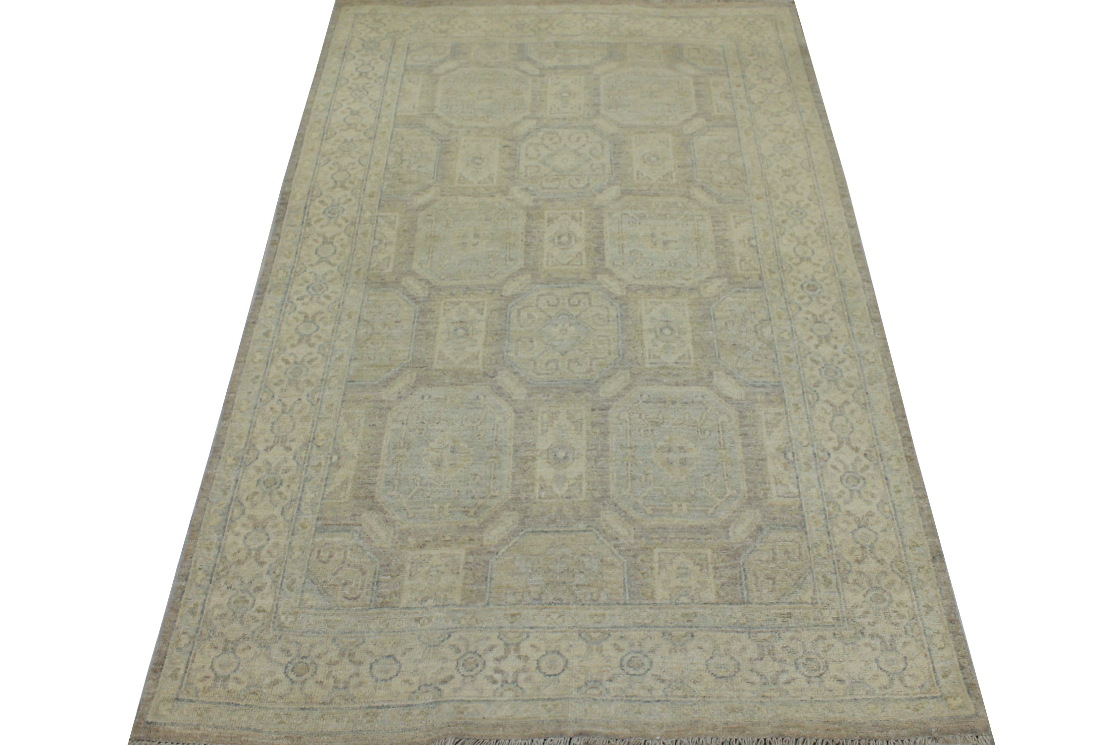 4x6 Peshawar Hand Knotted Wool Area Rug - MR19247