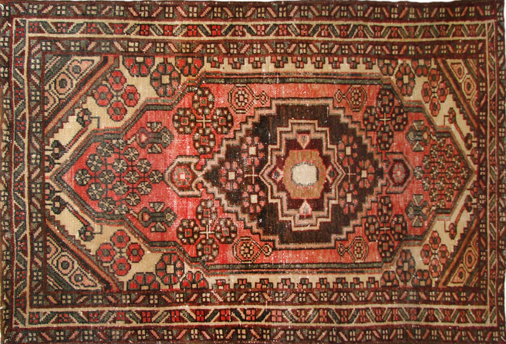 3x5 Traditional Hand Knotted Wool Area Rug - MR19433
