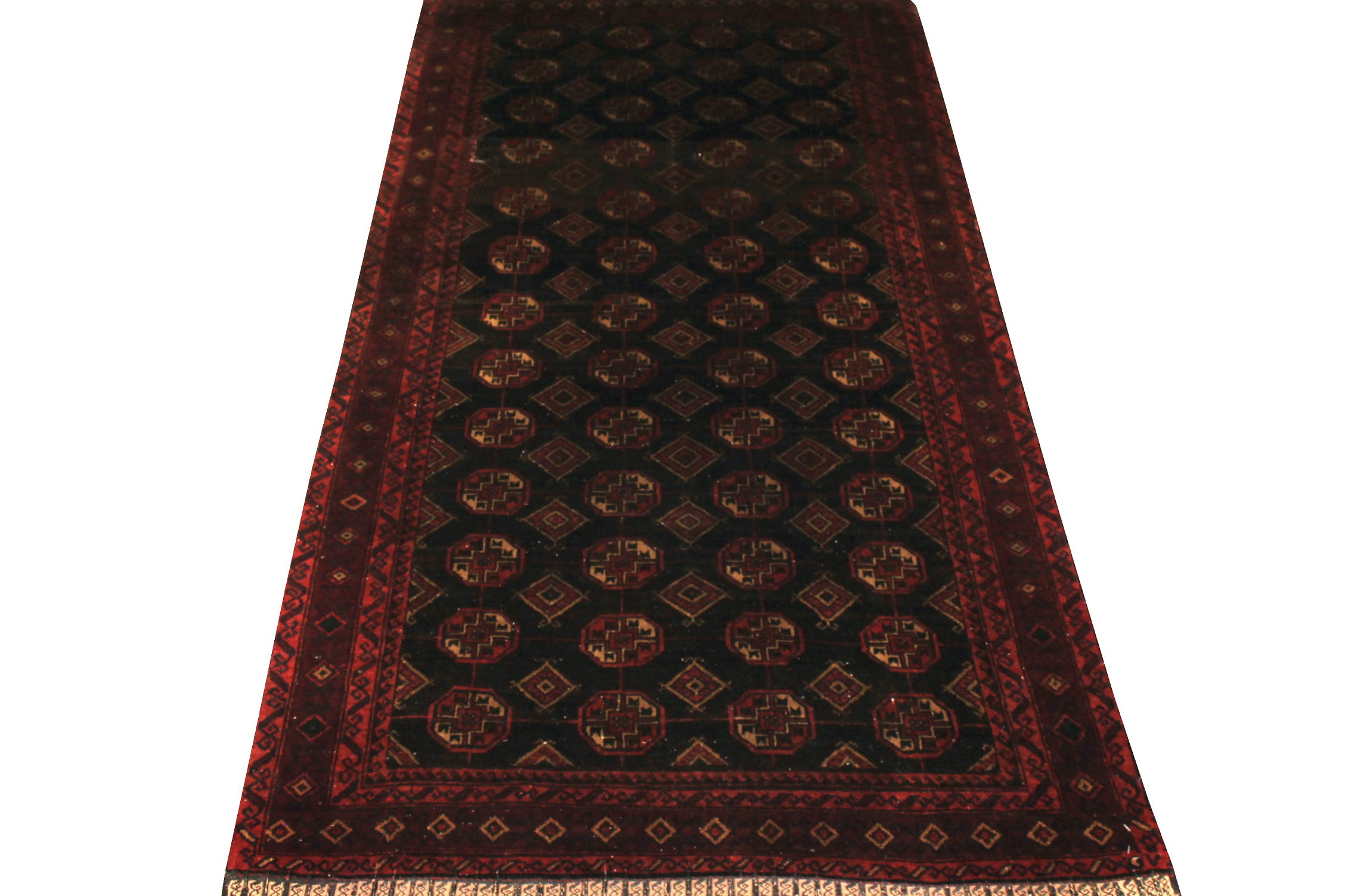 4x6 Bokhara Hand Knotted Wool Area Rug - MR19435