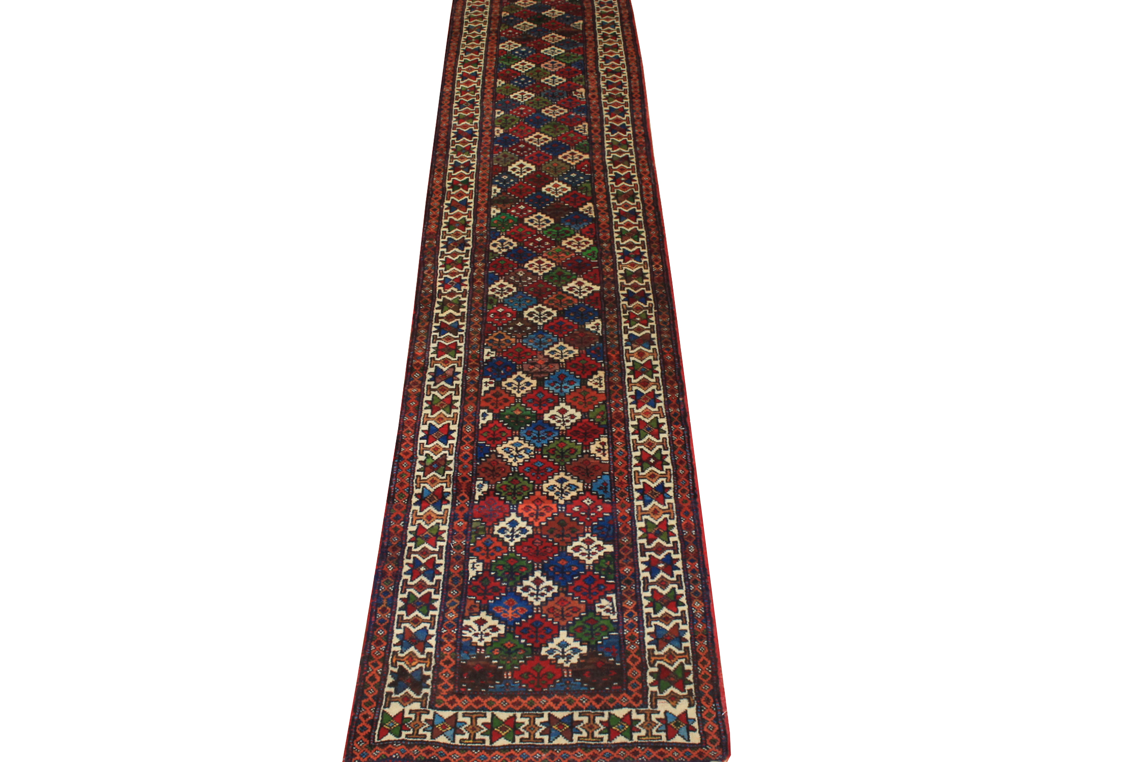 12 ft. Runner Traditional Hand Knotted Wool Area Rug - MR19441