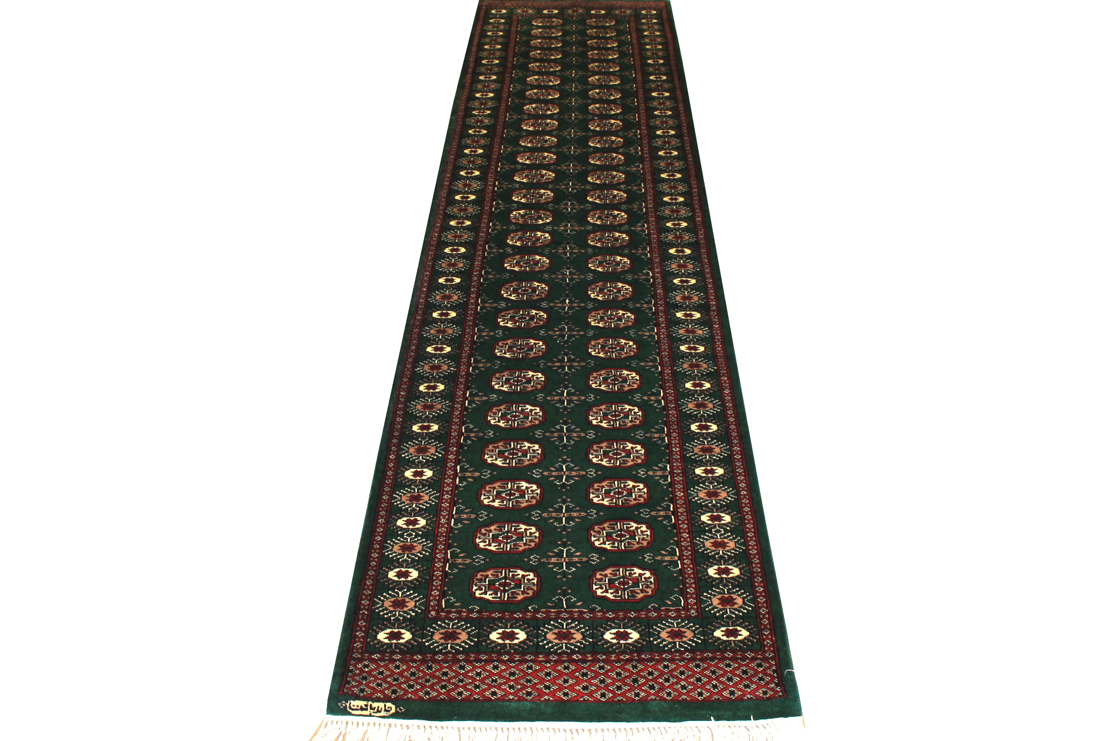 10 ft. Runner Bokhara Hand Knotted Wool Area Rug - MR19445