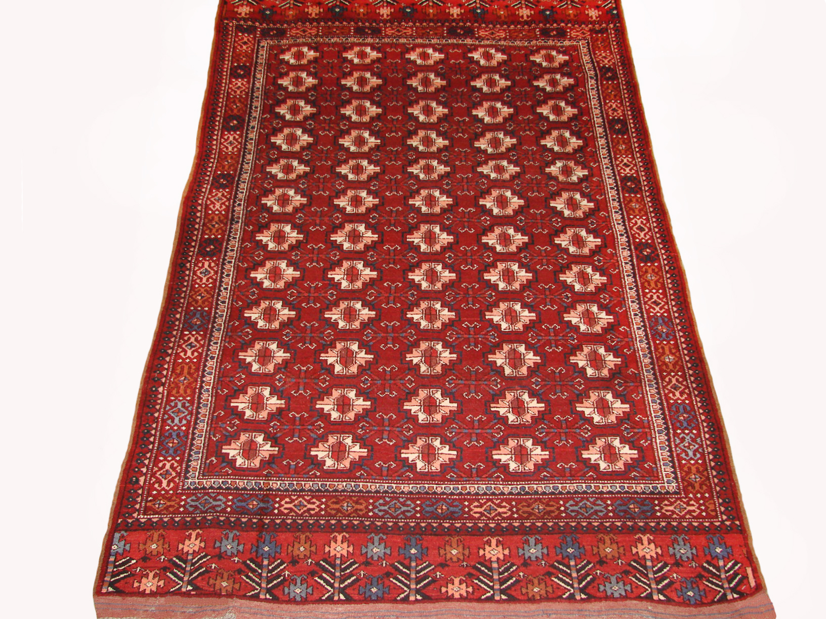 4x6 Bokhara Hand Knotted Wool Area Rug - MR19446