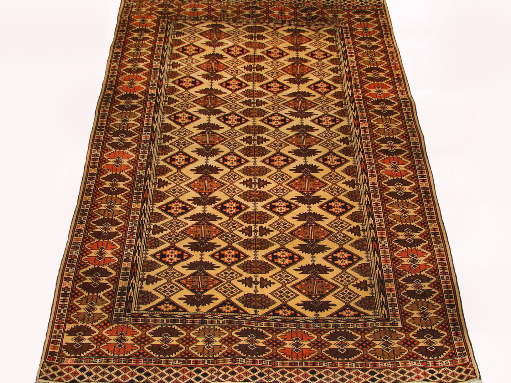 4x6 Bokhara Hand Knotted Wool Area Rug - MR19447