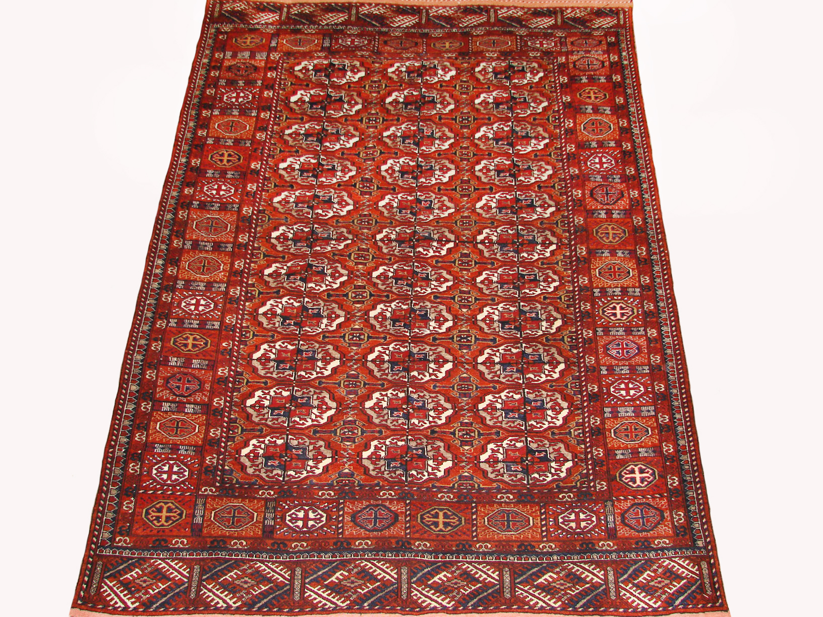 4x6 Bokhara Hand Knotted Wool Area Rug - MR19448