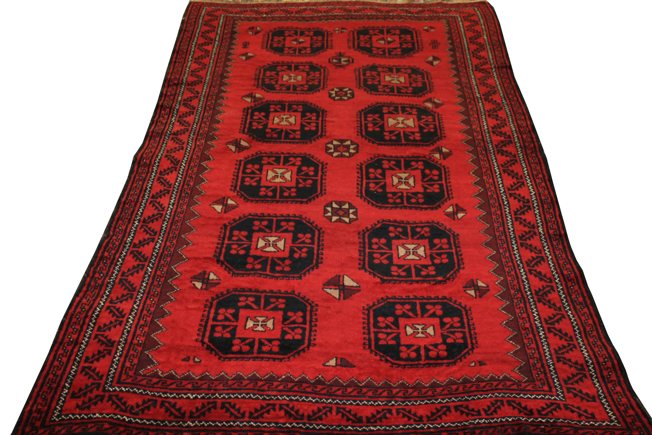5x7/8 Bokhara Hand Knotted Wool Area Rug - MR19452