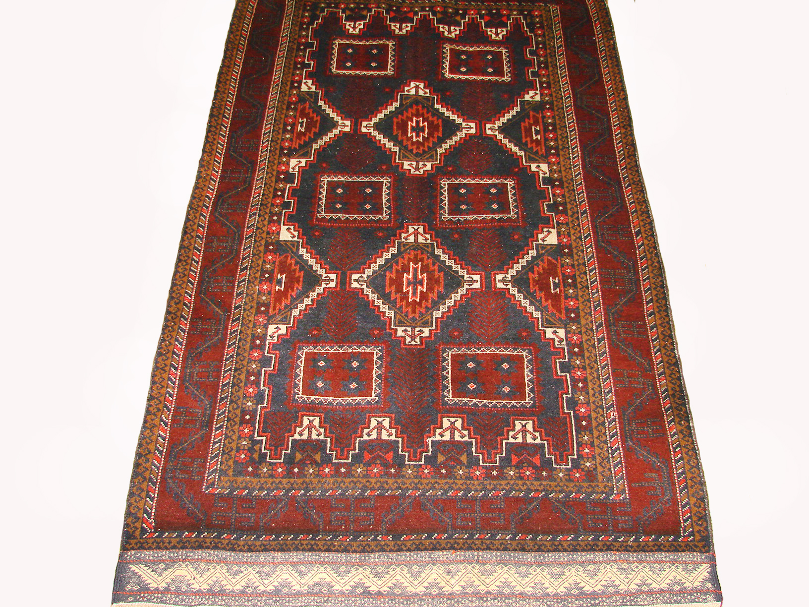 4x6 Kazak Hand Knotted Wool Area Rug - MR19454