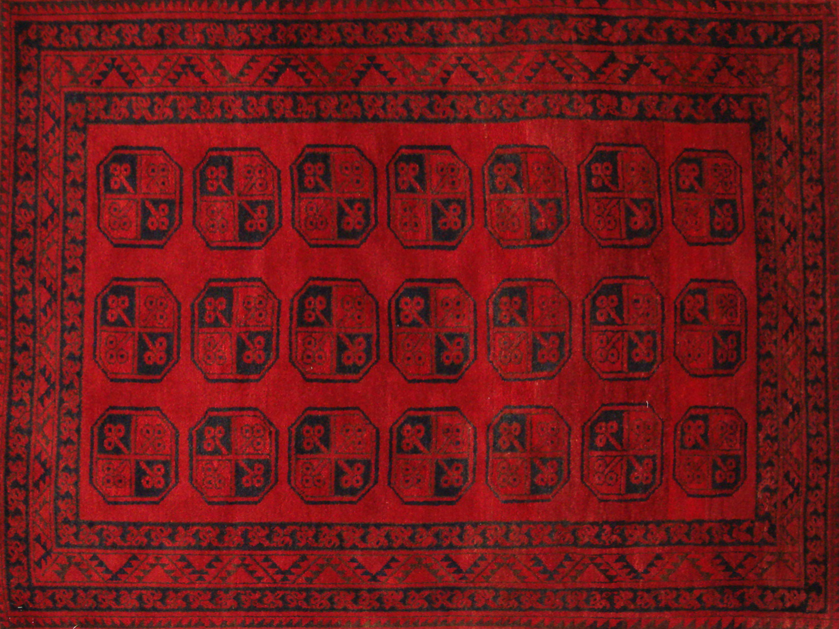 4x6 Bokhara Hand Knotted Wool Area Rug - MR19457
