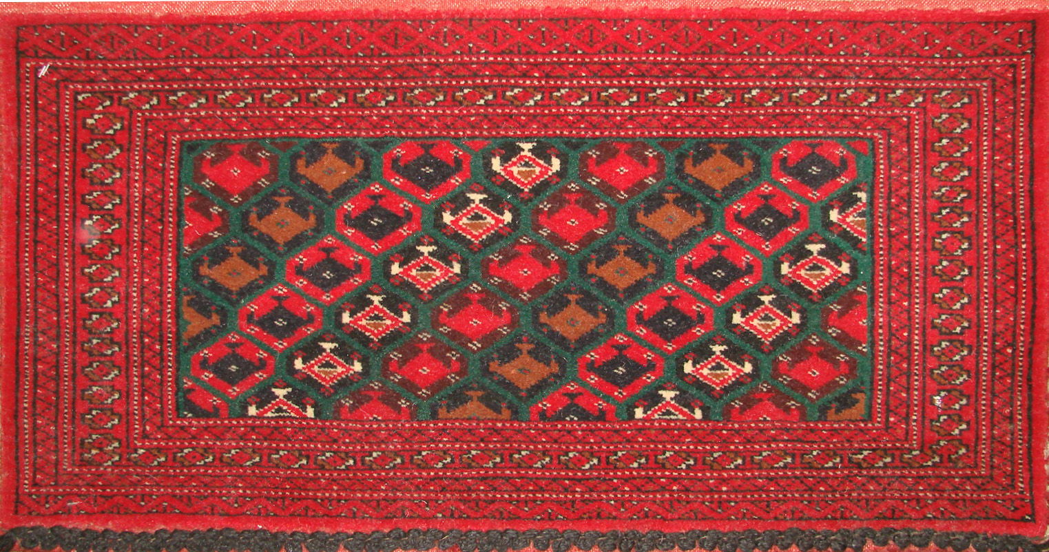 1.6X2 & SMALLER Bokhara Hand Knotted Wool Area Rug - MR19476