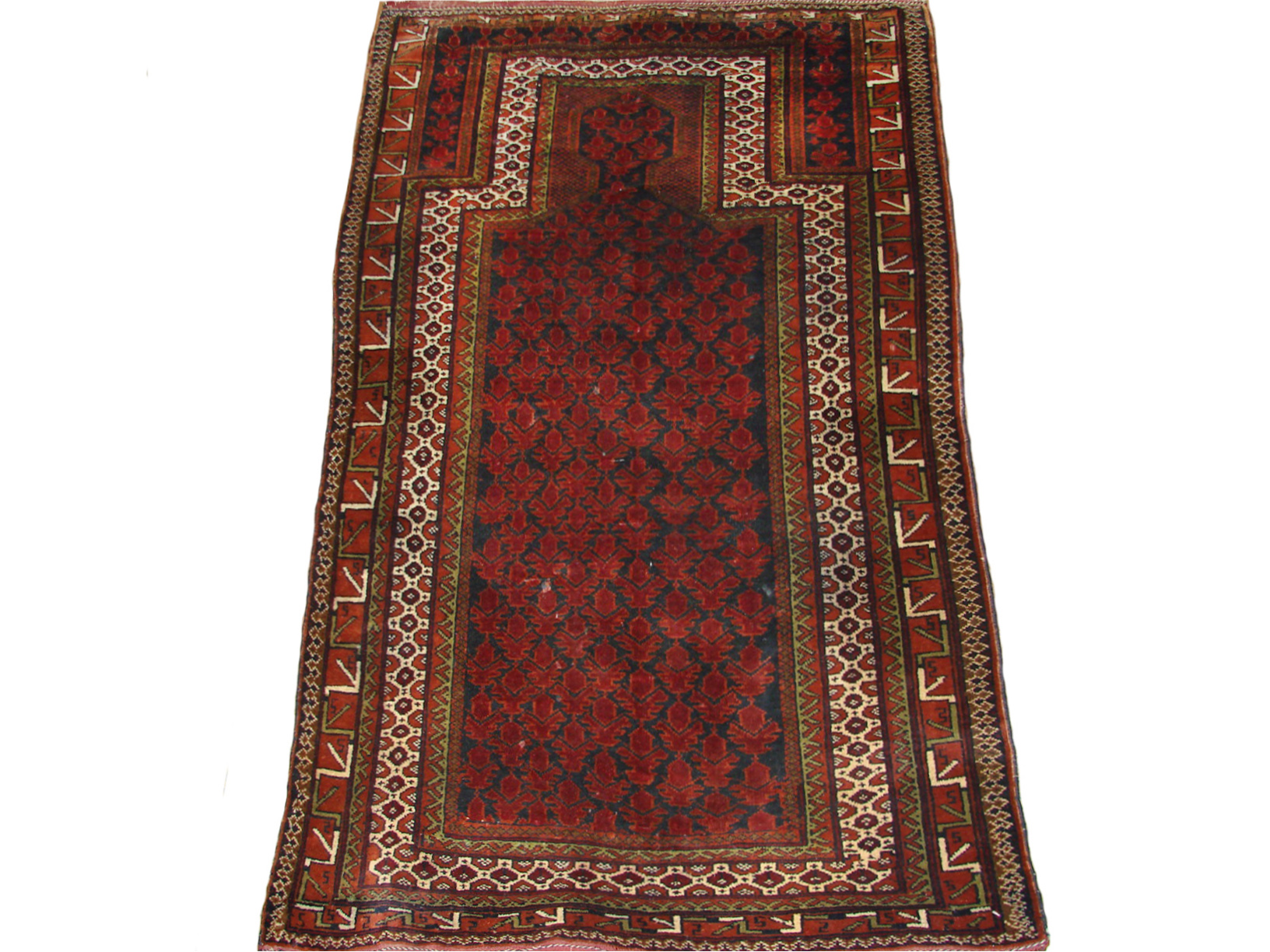 3x5 Antique Revival Hand Knotted Wool Area Rug - MR19485