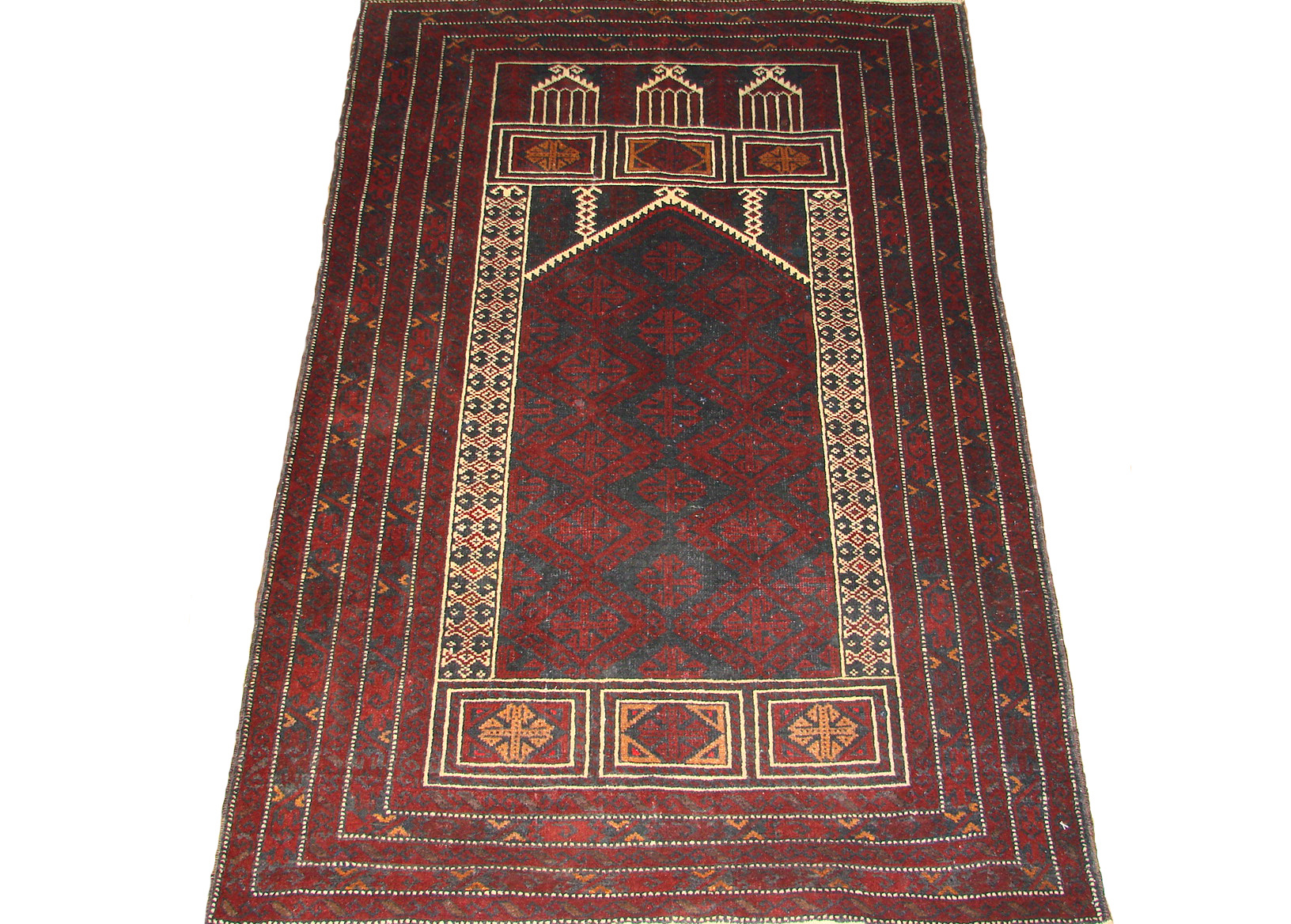 3x5 Kazak Hand Knotted Wool Area Rug - MR19486