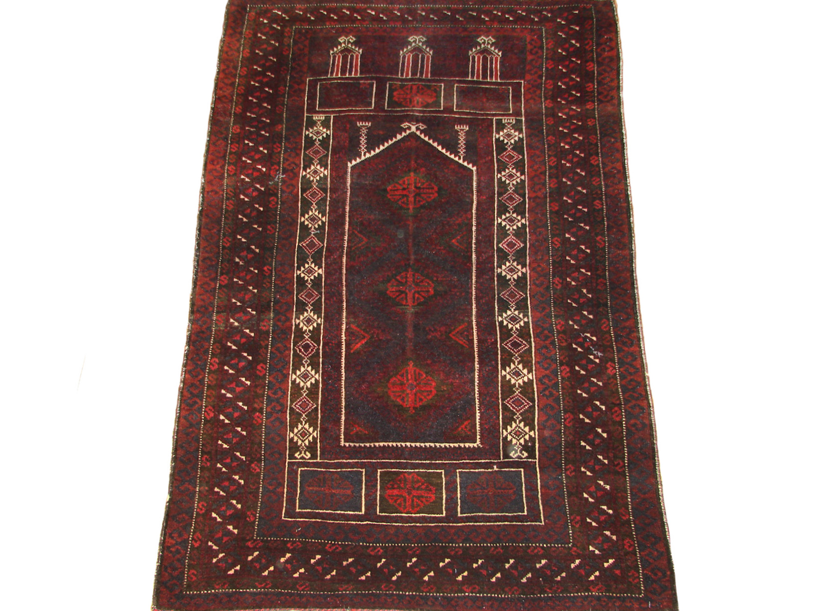 3x5 Kazak Hand Knotted Wool Area Rug - MR19488