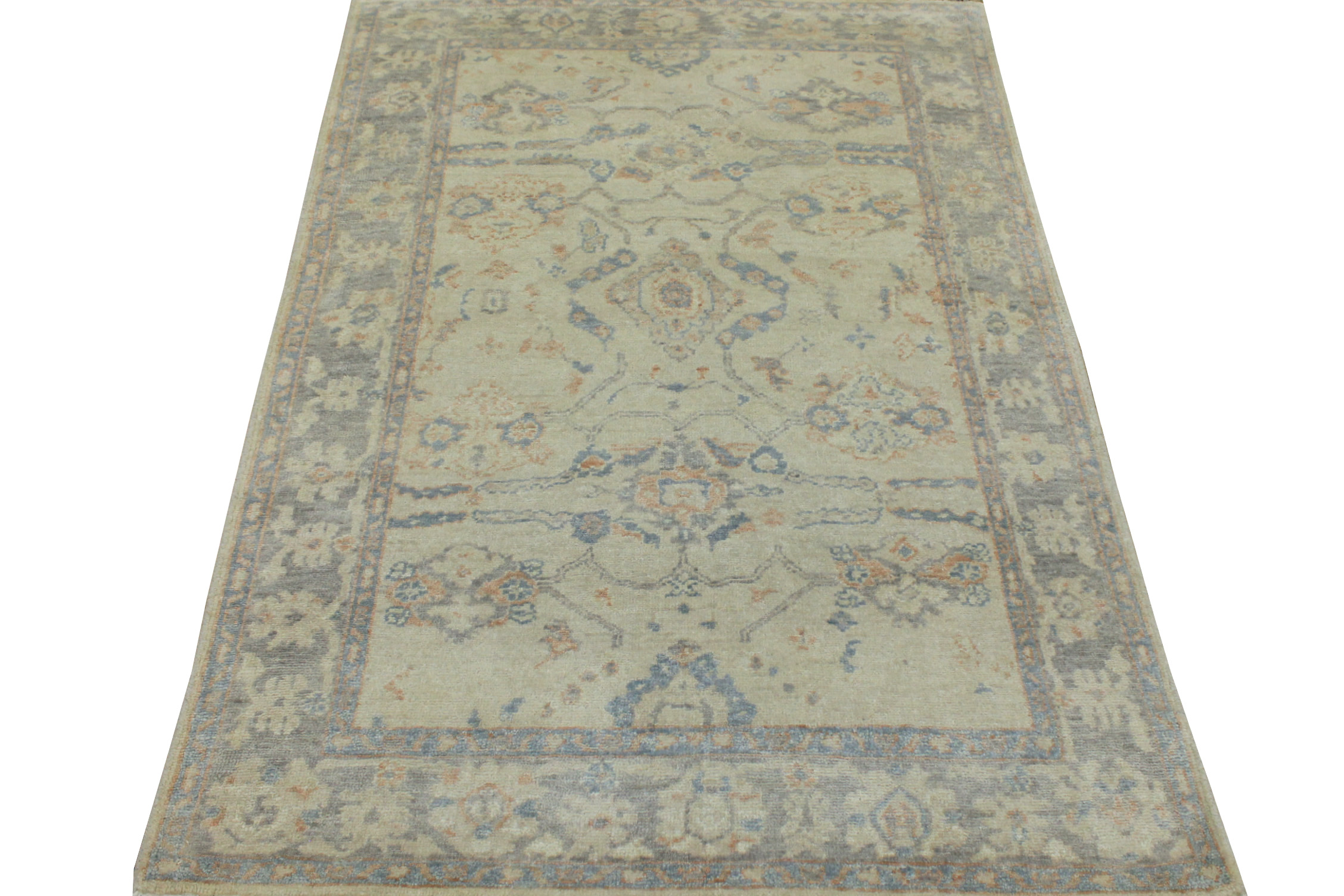 4x6 Oushak Hand Knotted Wool Area Rug - MR19535