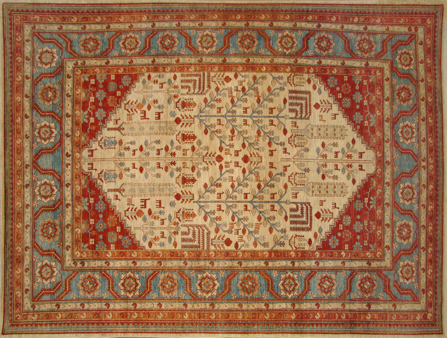 10x14 Antique Revival Hand Knotted Wool Area Rug - MR19566