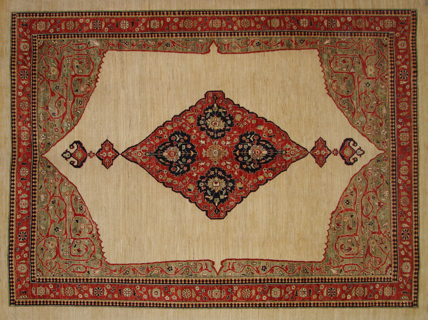 9x12 Antique Revival Hand Knotted Wool Area Rug - MR19572
