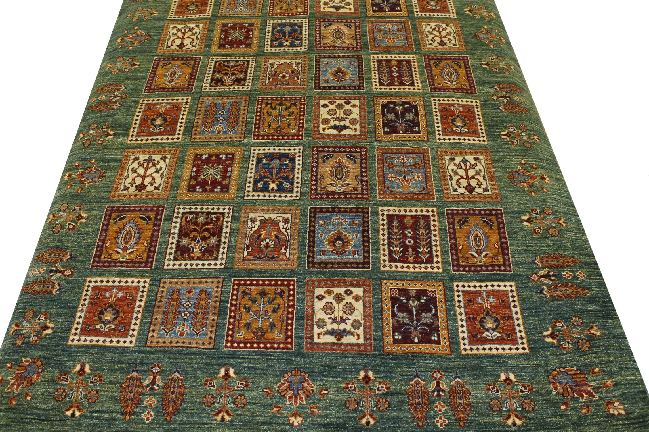 5x7/8 Antique Revival Hand Knotted Wool Area Rug - MR19576