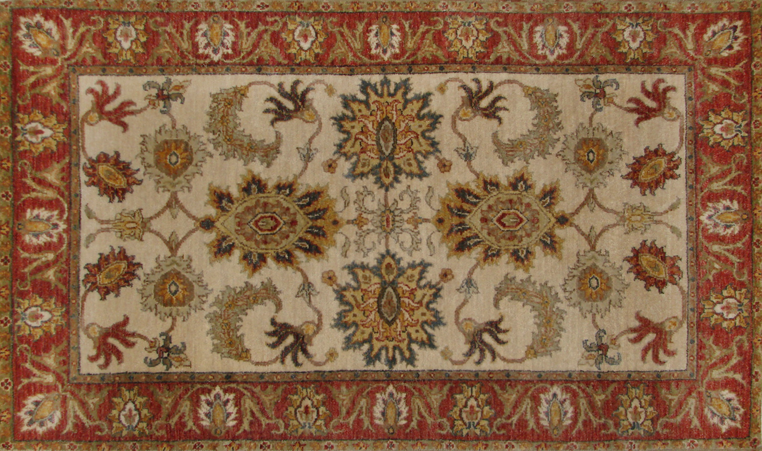 3x5 Traditional Hand Knotted Wool Area Rug - MR19659