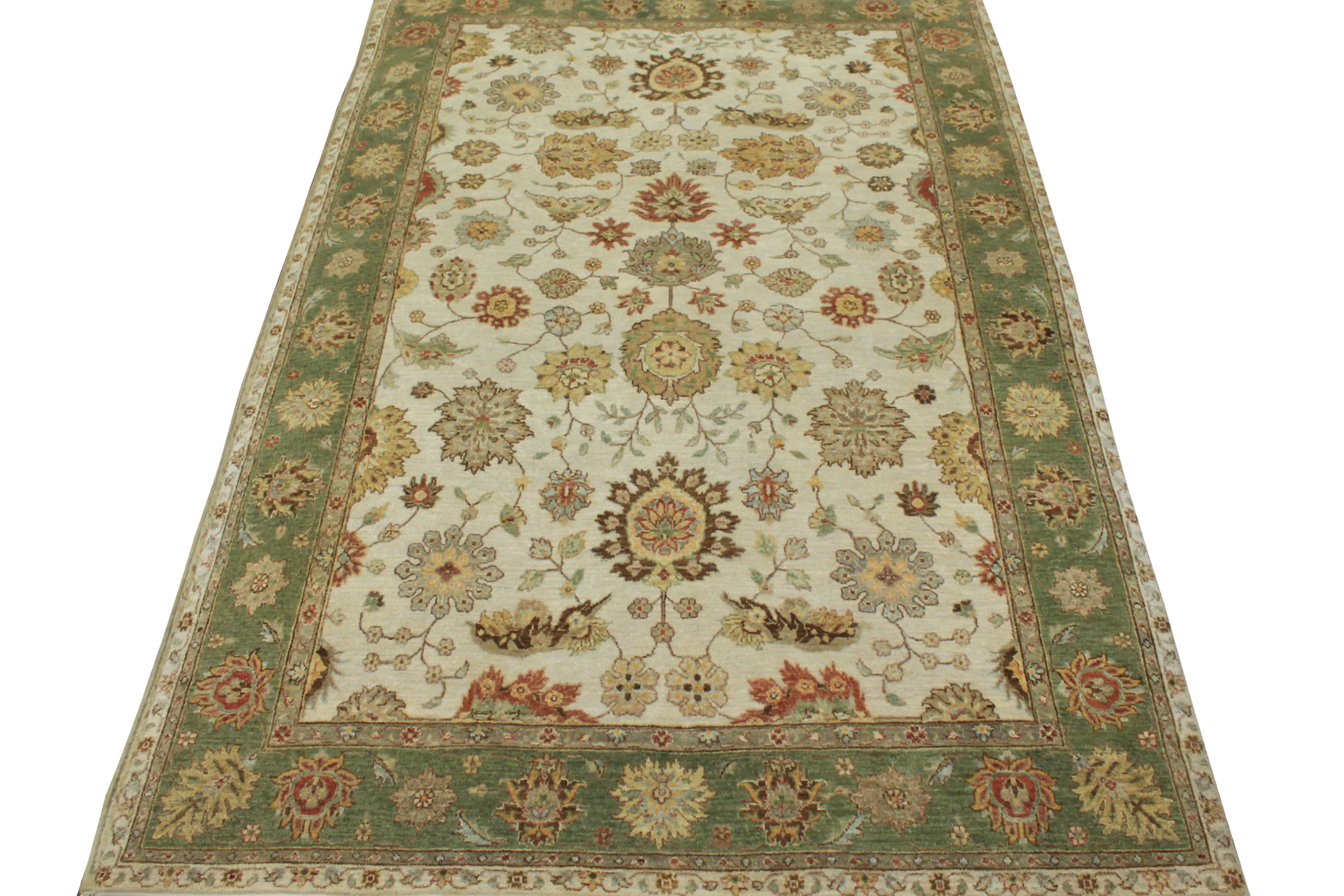 6x9 Traditional Hand Knotted Wool Area Rug - MR19675