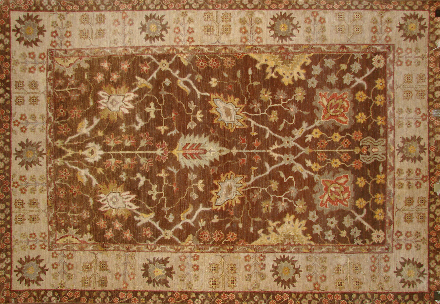 4x6 Traditional Hand Knotted Wool Area Rug - MR19678
