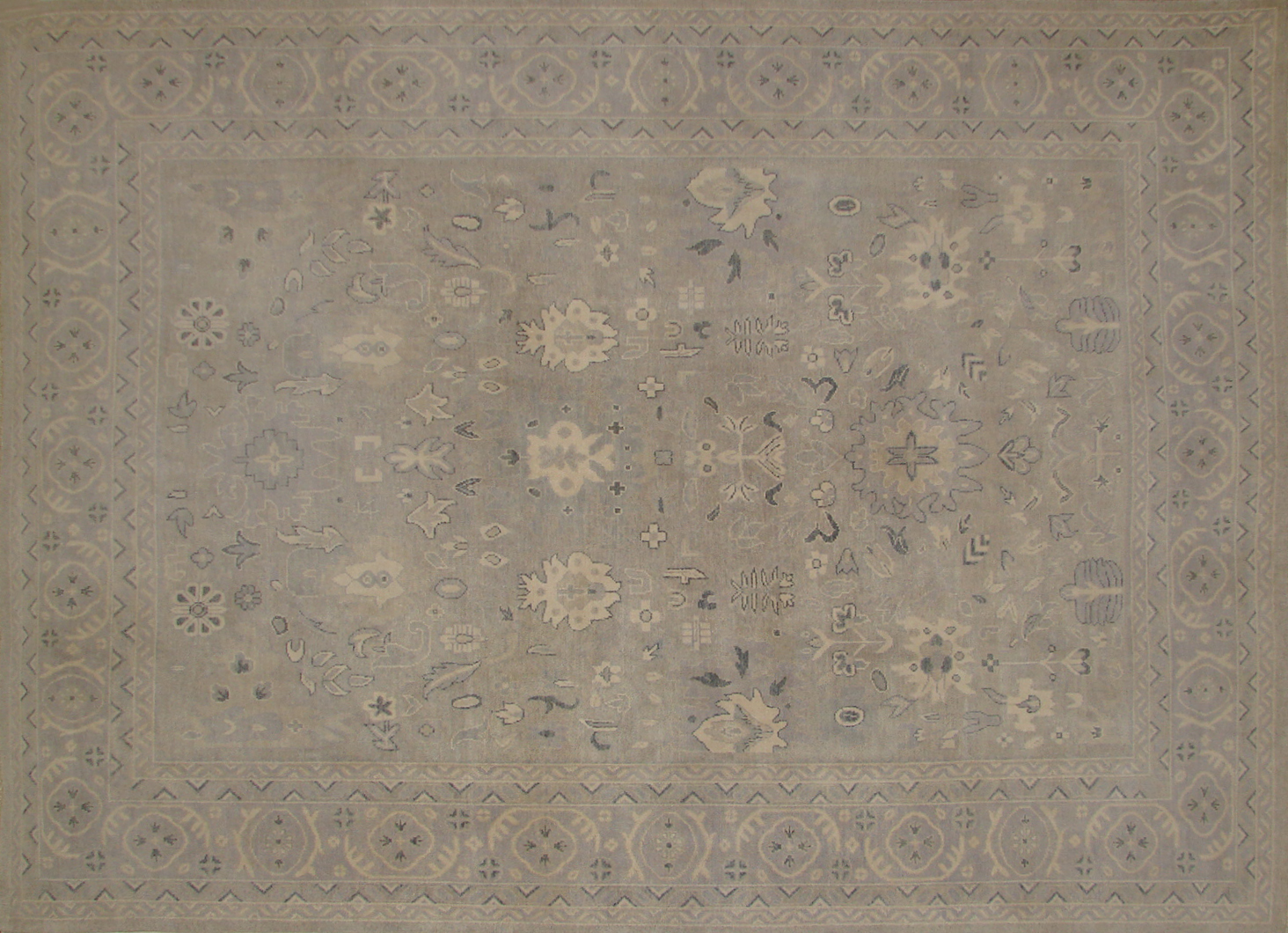 9x12 Oushak Hand Knotted Wool Area Rug - MR19691