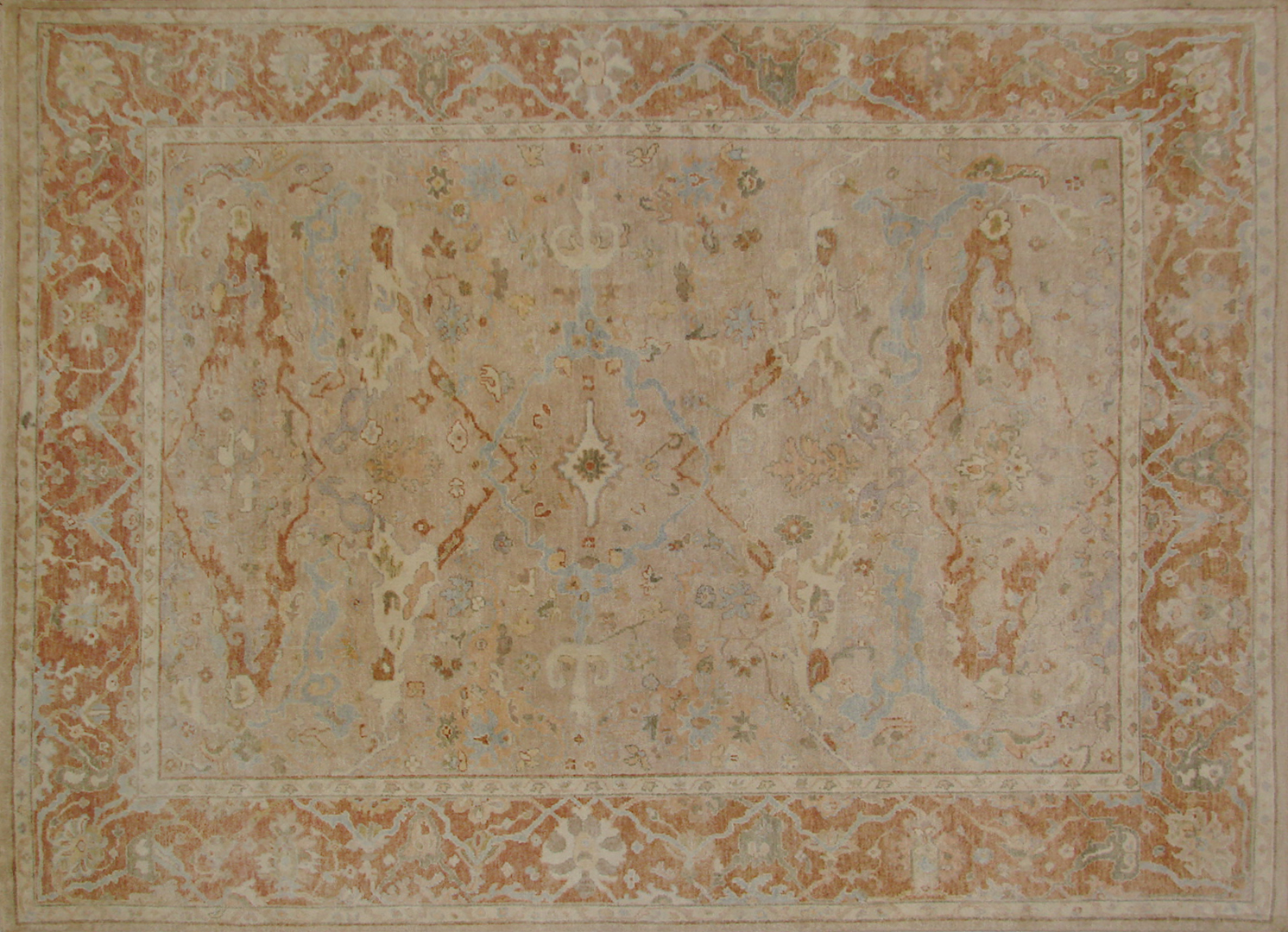 8x10 Oushak Hand Knotted Wool Area Rug - MR19708
