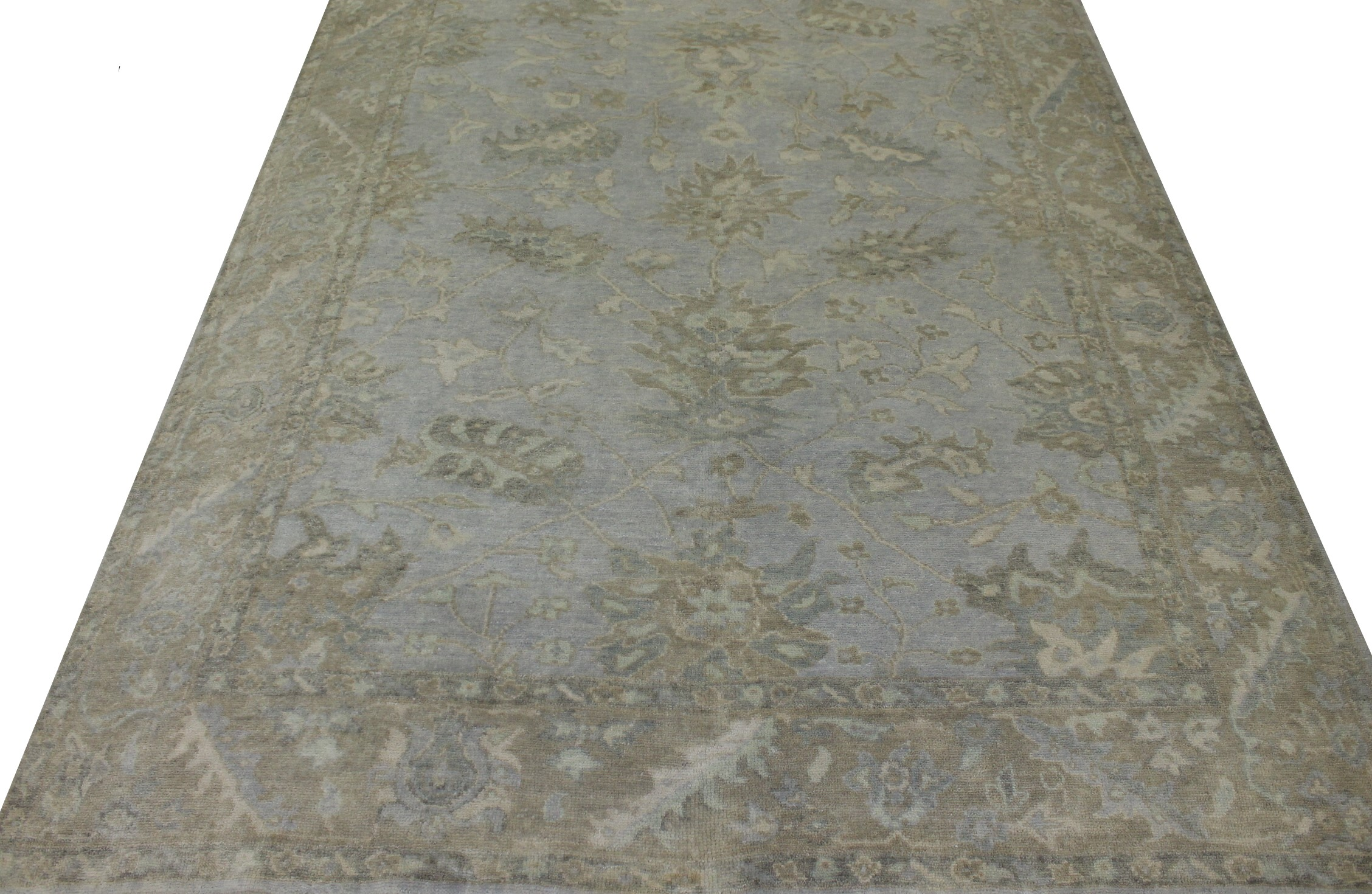 6x9 Oushak Hand Knotted Wool Area Rug - MR19763