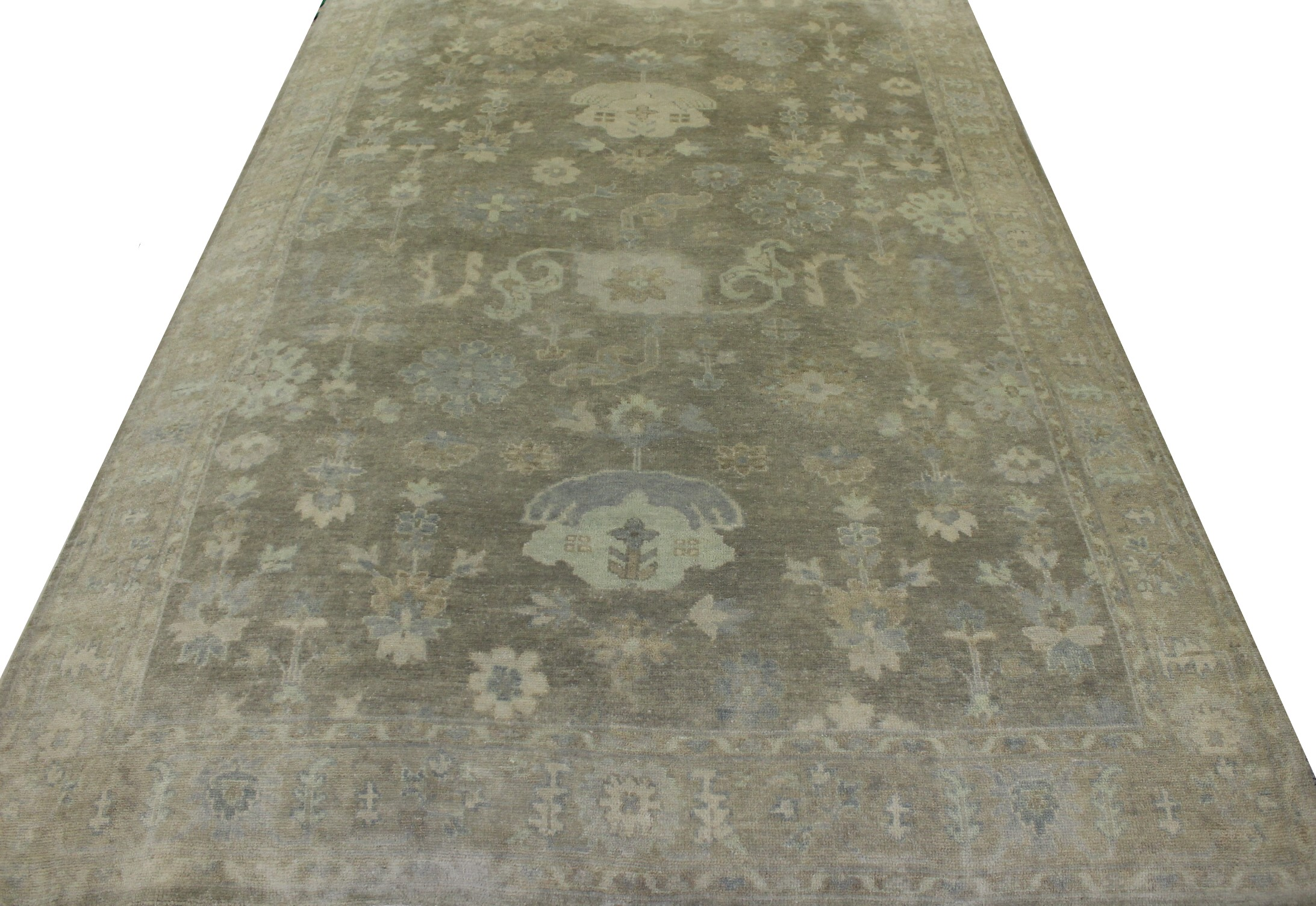 6x9 Oushak Hand Knotted Wool Area Rug - MR19765