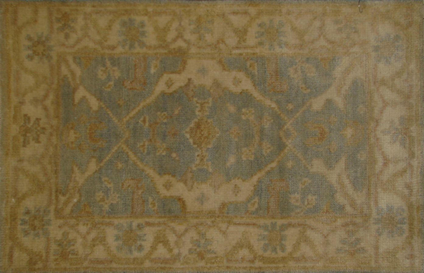 2X3 Oushak Hand Knotted Wool Area Rug - MR19806
