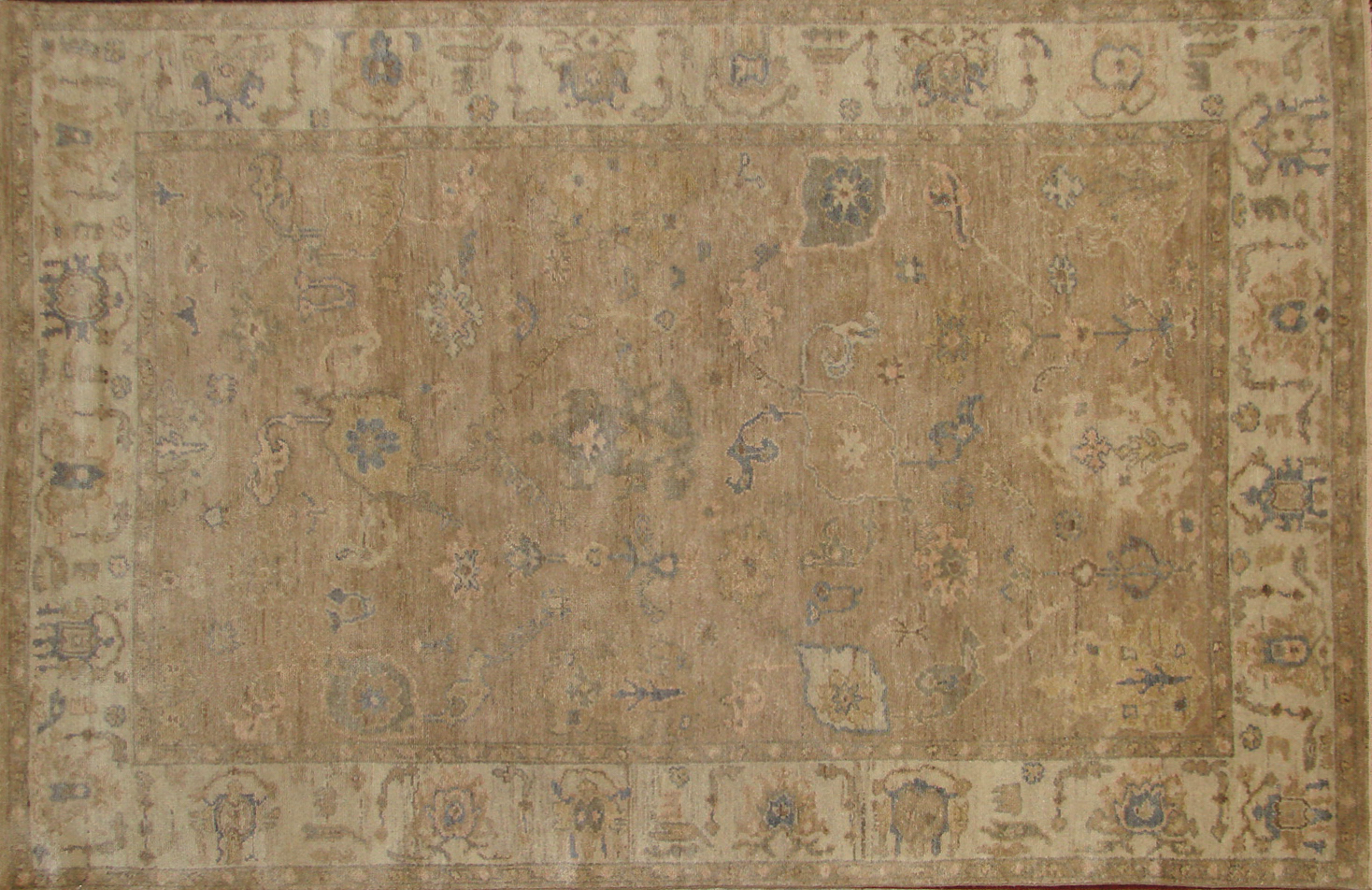 5x7/8 Oushak Hand Knotted Wool Area Rug - MR19825