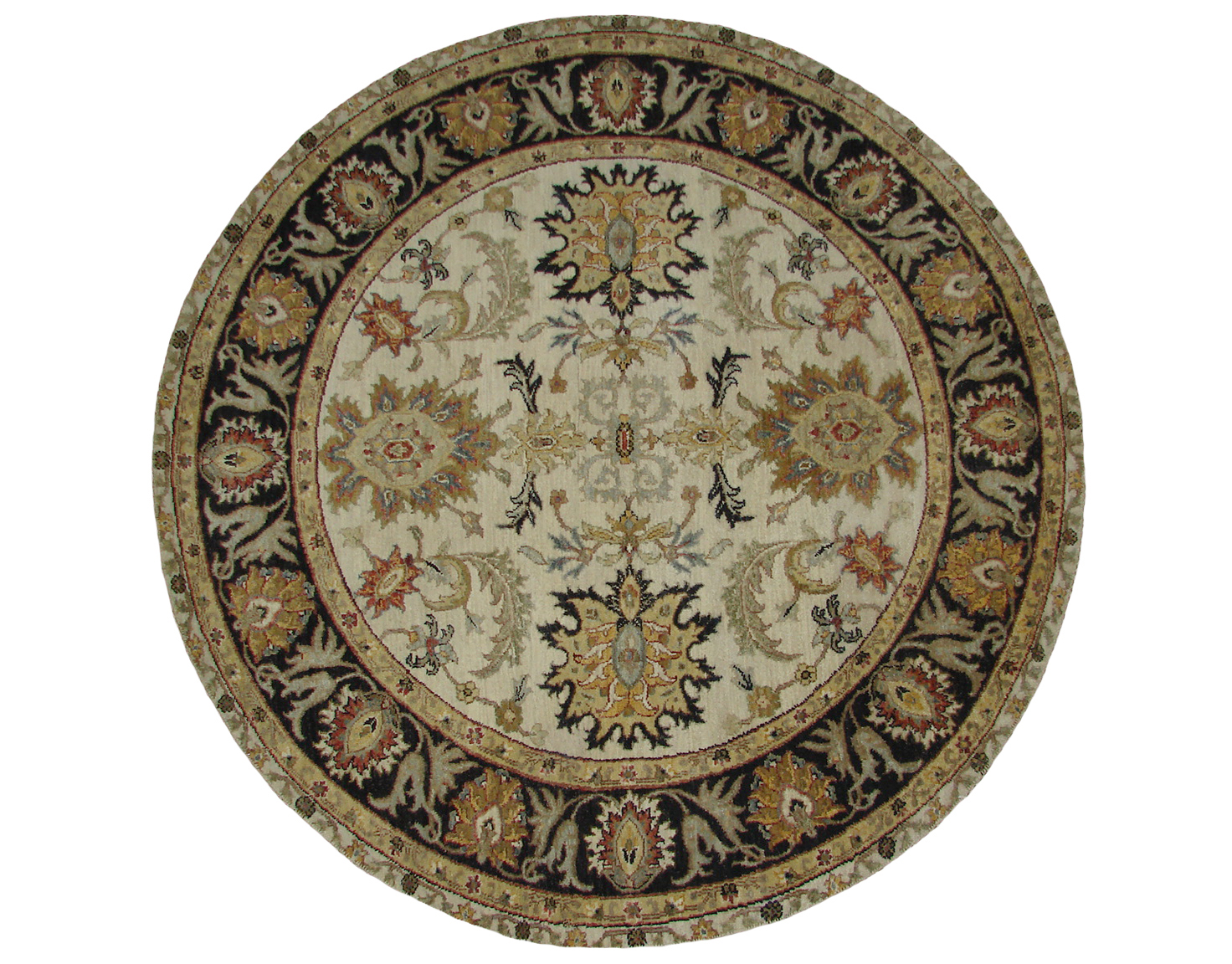 5 Round & Square Traditional Hand Knotted Wool Area Rug - MR19841