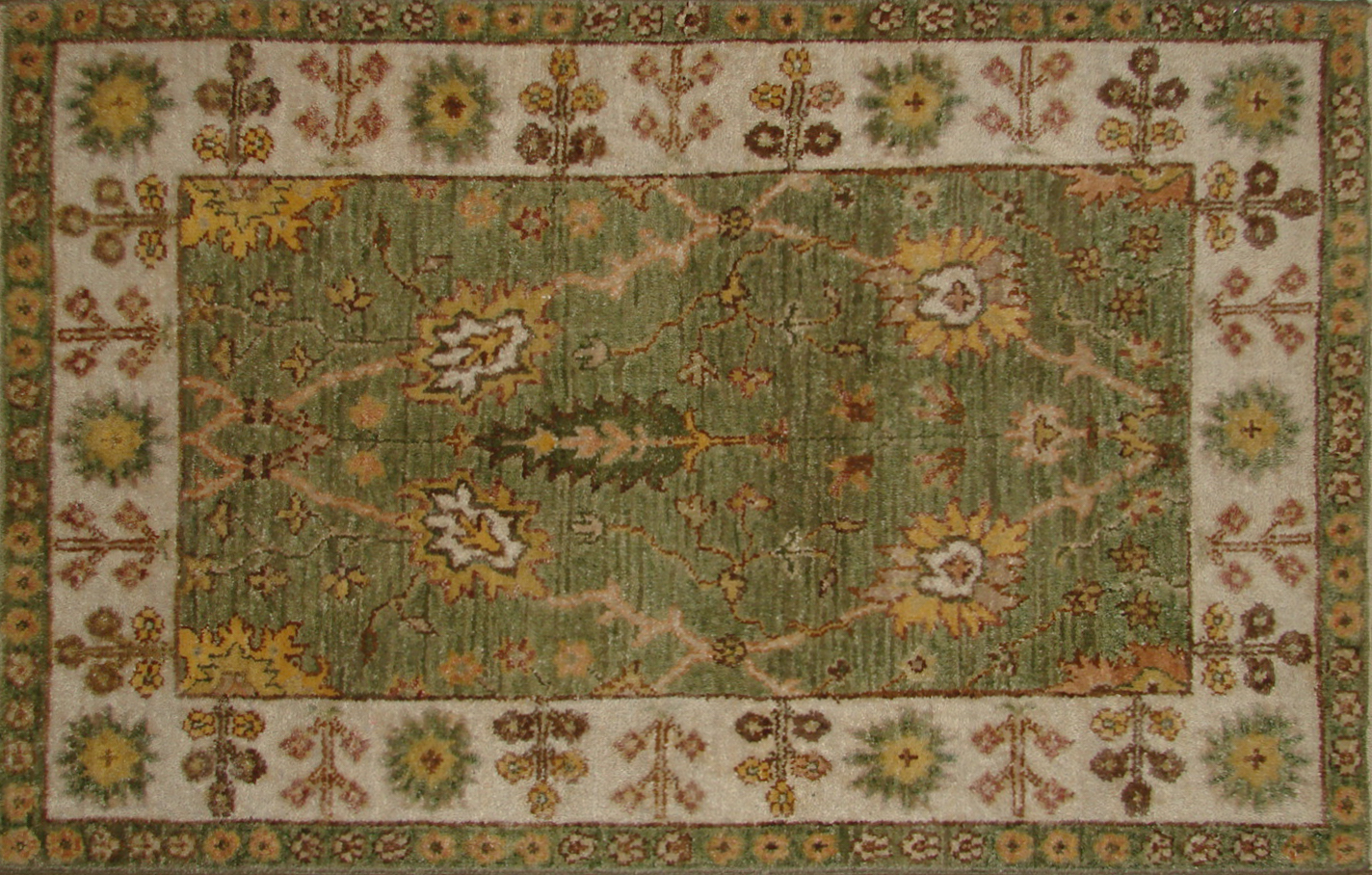 2X3 Traditional Hand Knotted Wool Area Rug - MR19871