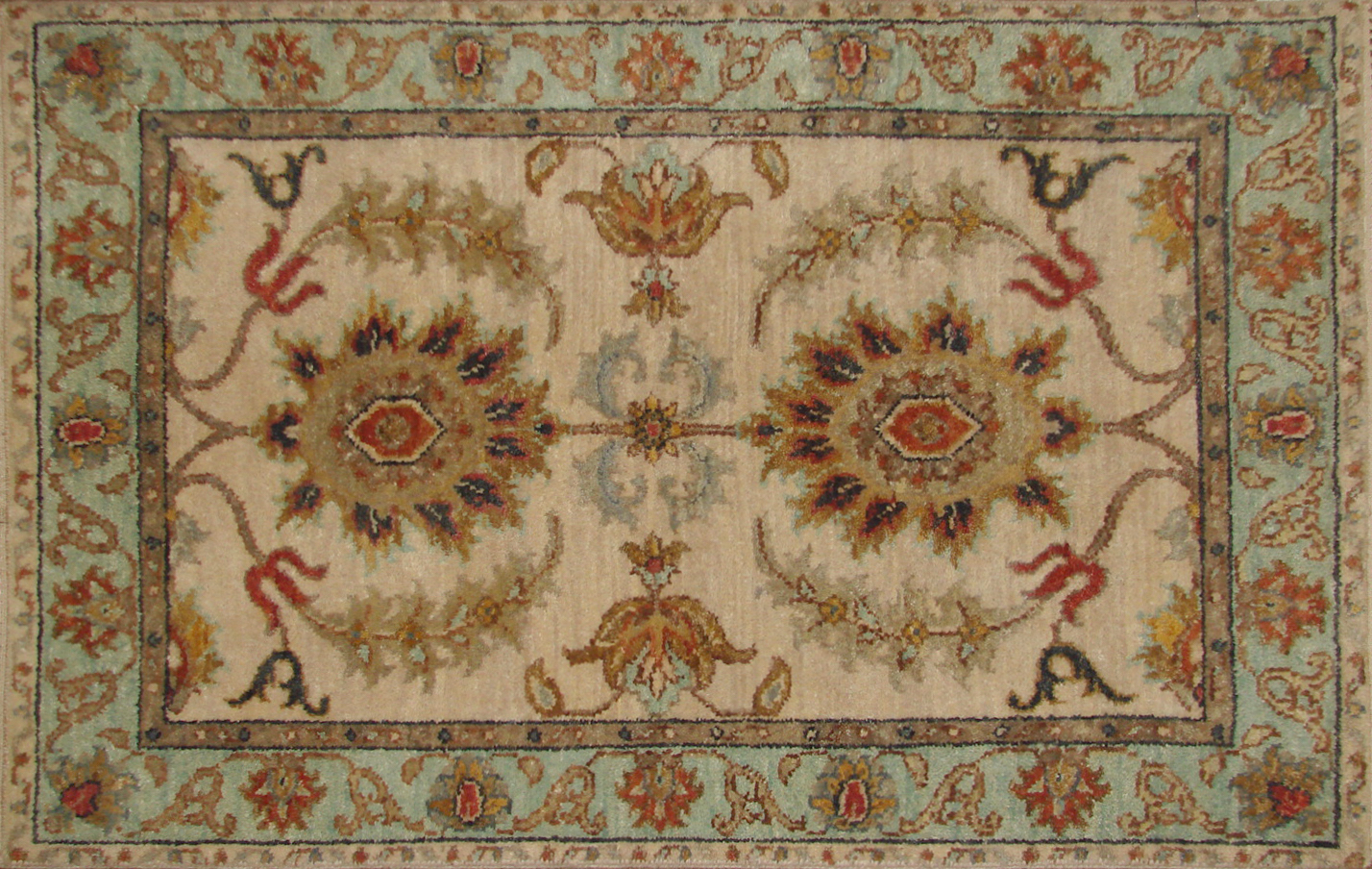 2X3 Traditional Hand Knotted Wool Area Rug - MR19875