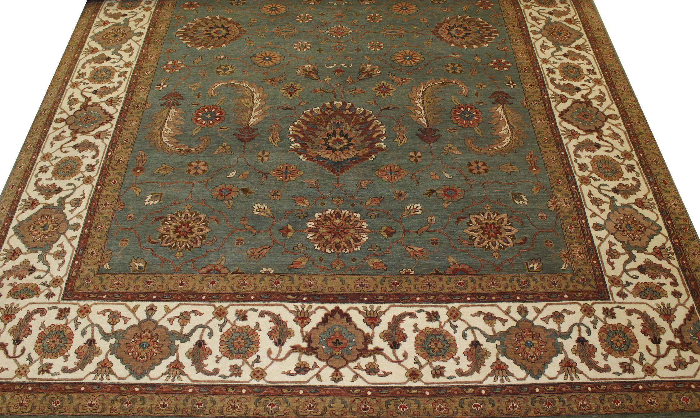 10x14 Antique Revival Hand Knotted Wool Area Rug - MR19907