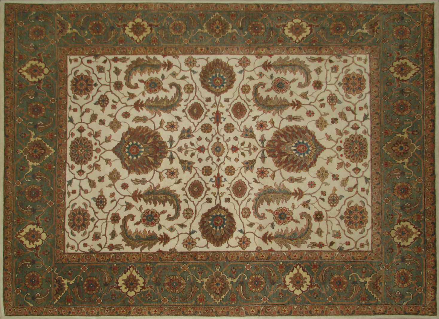 8x10 Antique Revival Hand Knotted Wool Area Rug - MR19910