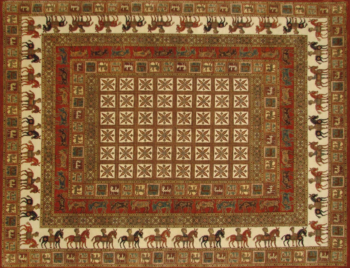 8x10 Antique Revival Hand Knotted Wool Area Rug - MR19912