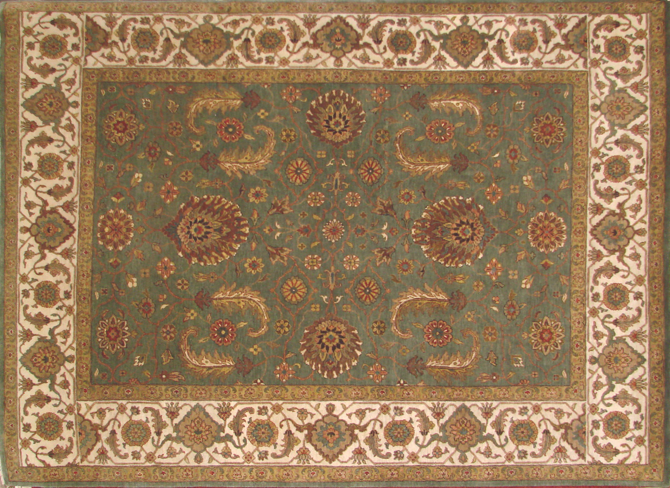 8x10 Antique Revival Hand Knotted Wool Area Rug - MR19913
