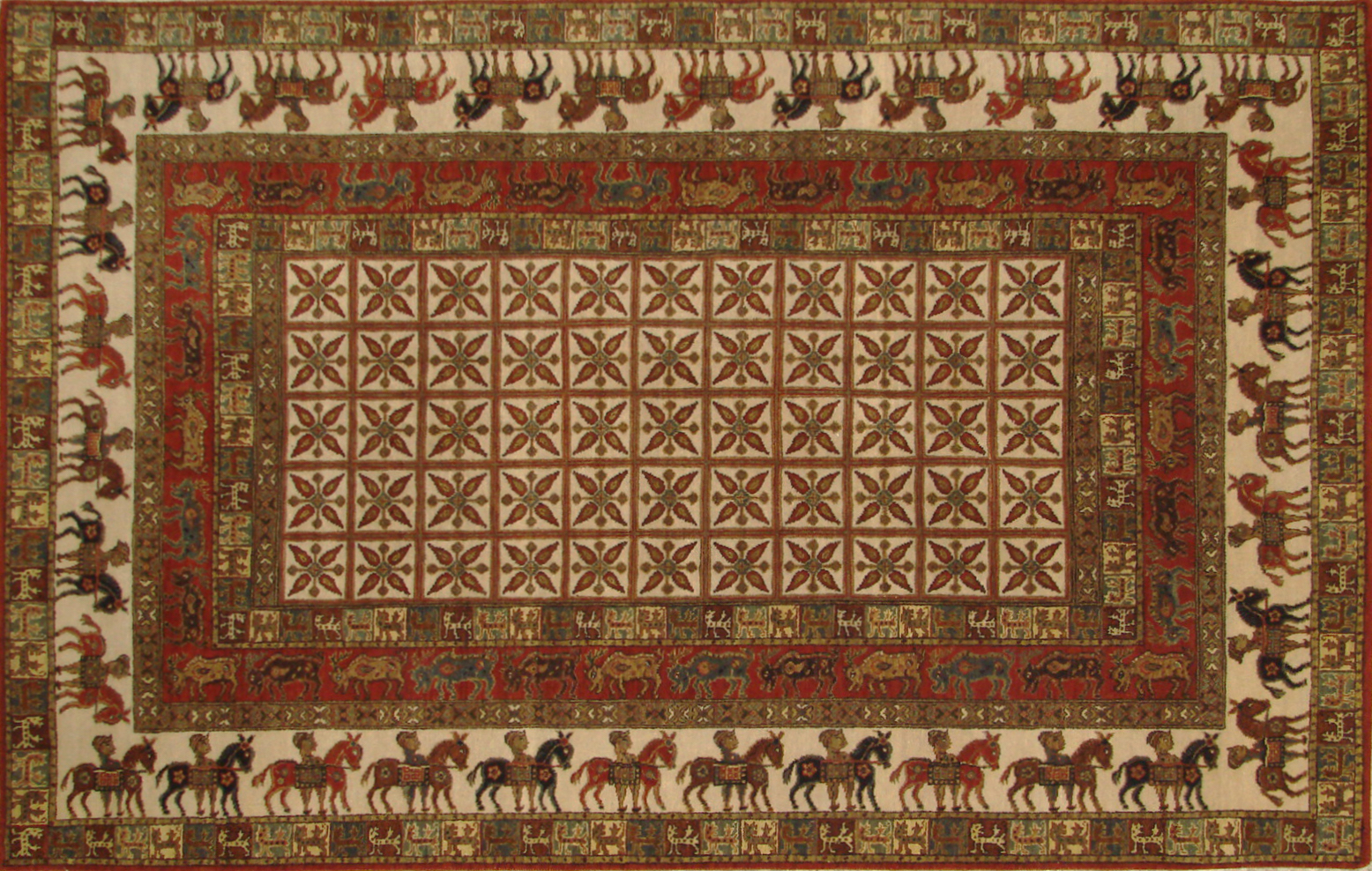 5x7/8 Antique Revival Hand Knotted Wool Area Rug - MR19914