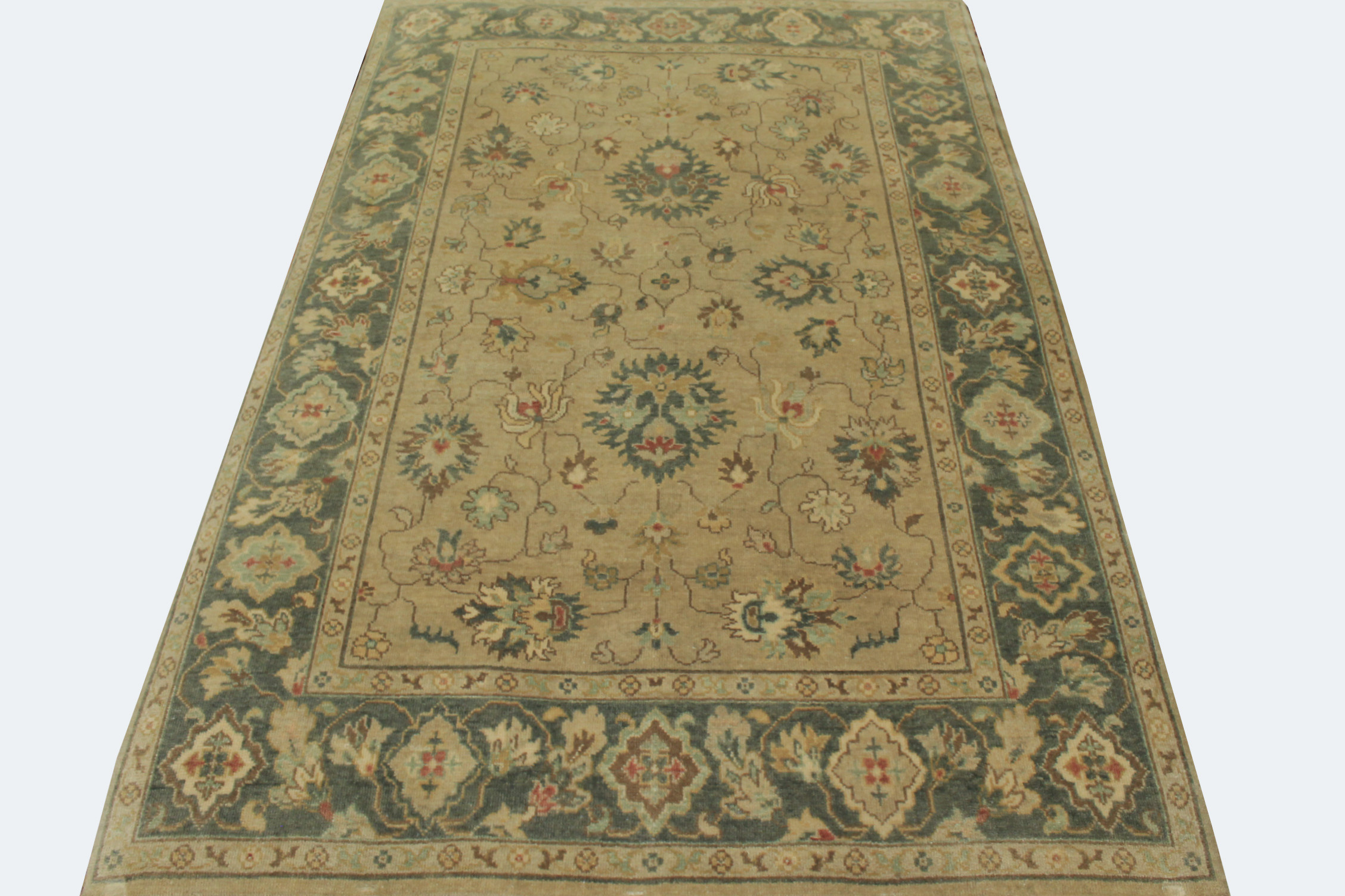 6x9 Traditional Hand Knotted Wool Area Rug - MR19915