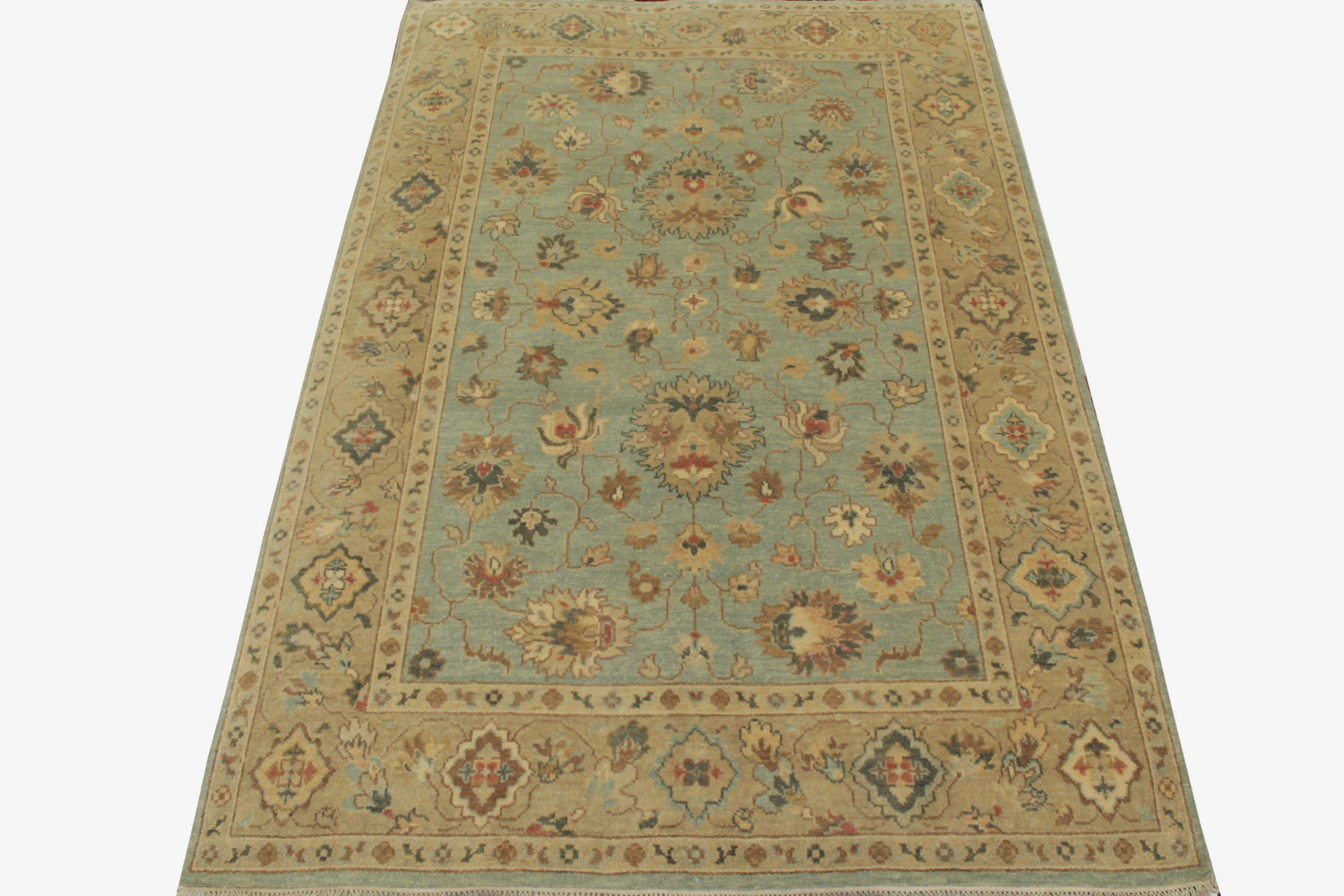 6x9 Traditional Hand Knotted Wool Area Rug - MR19917