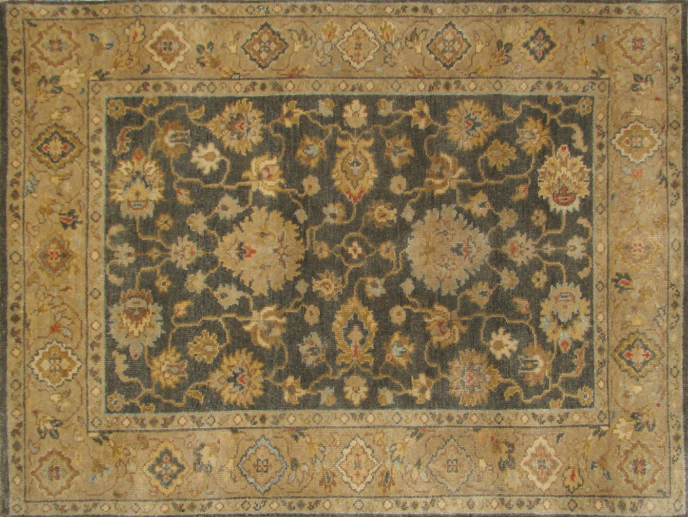 4x6 Traditional Hand Knotted Wool Area Rug - MR19923